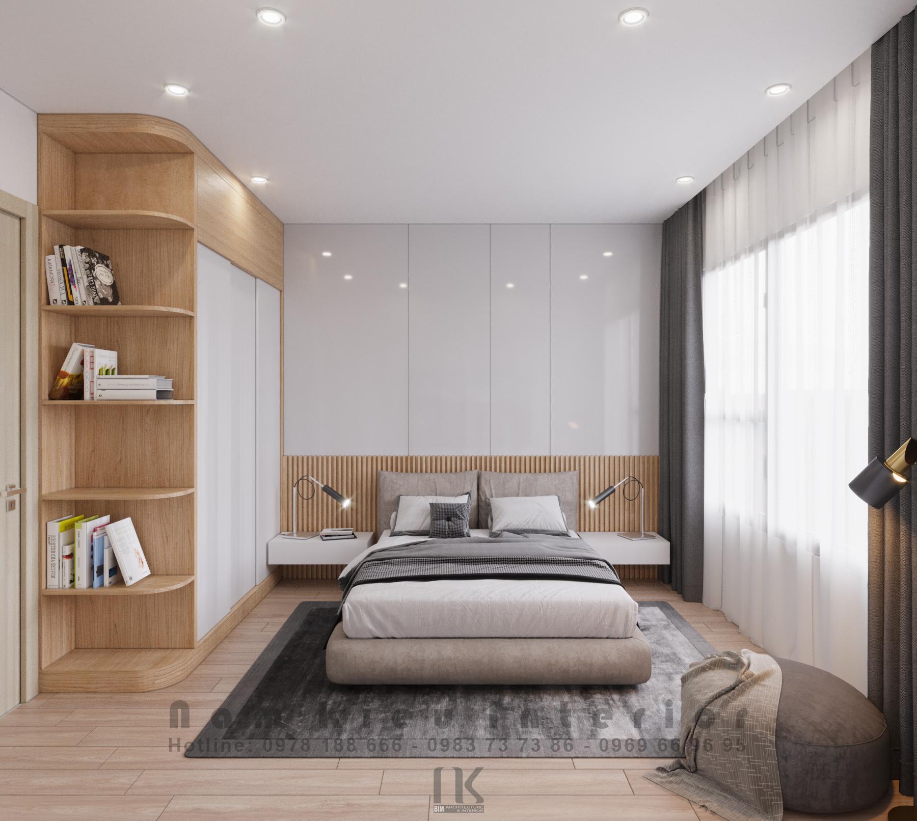 Thiết kế nội thất Chung Cư tại Hà Nội Căn hộ 2PN tại chung cư Vinhomes Smart City 1590635777 6