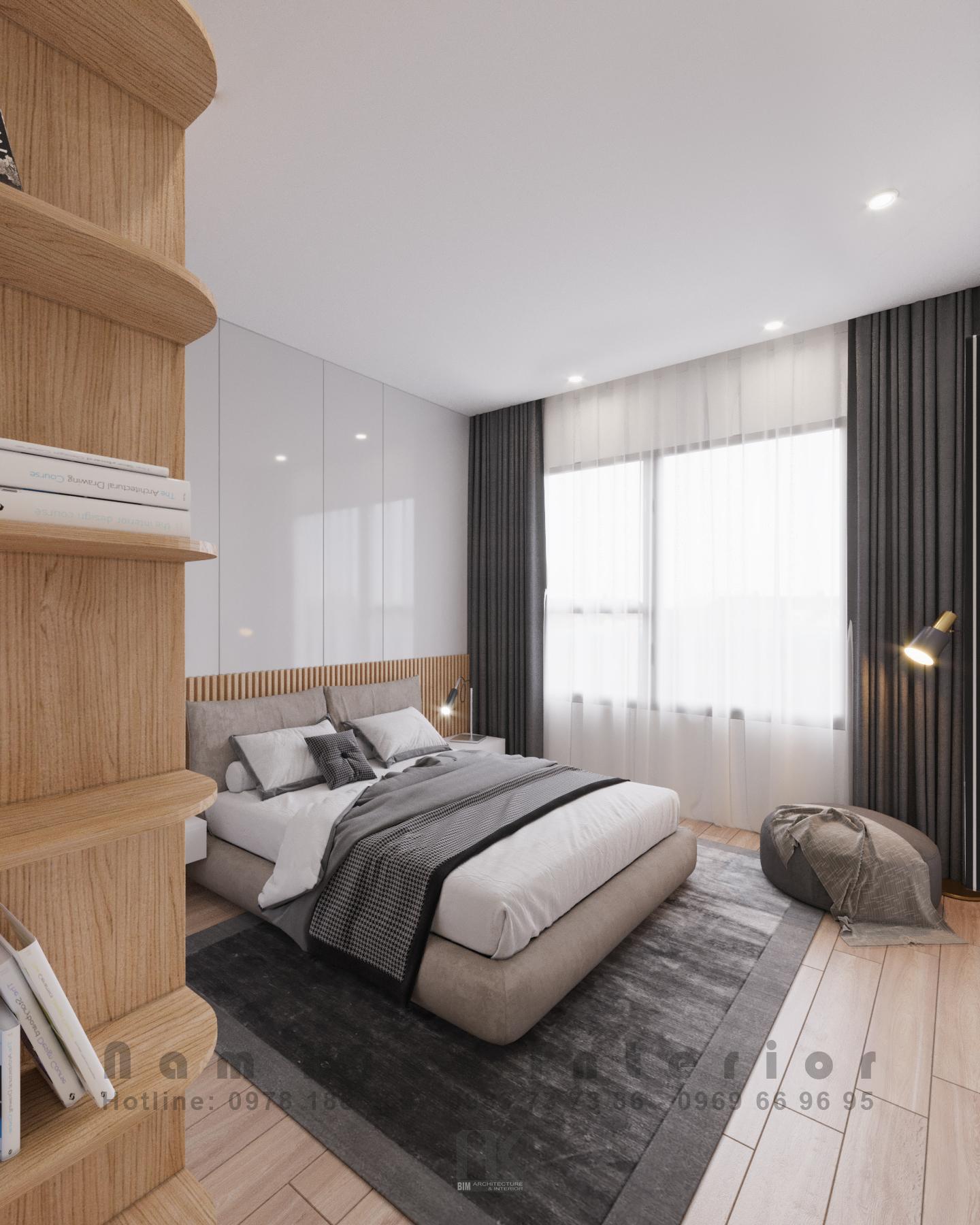 Thiết kế nội thất Chung Cư tại Hà Nội Căn hộ 2PN tại chung cư Vinhomes Smart City 1590635777 7