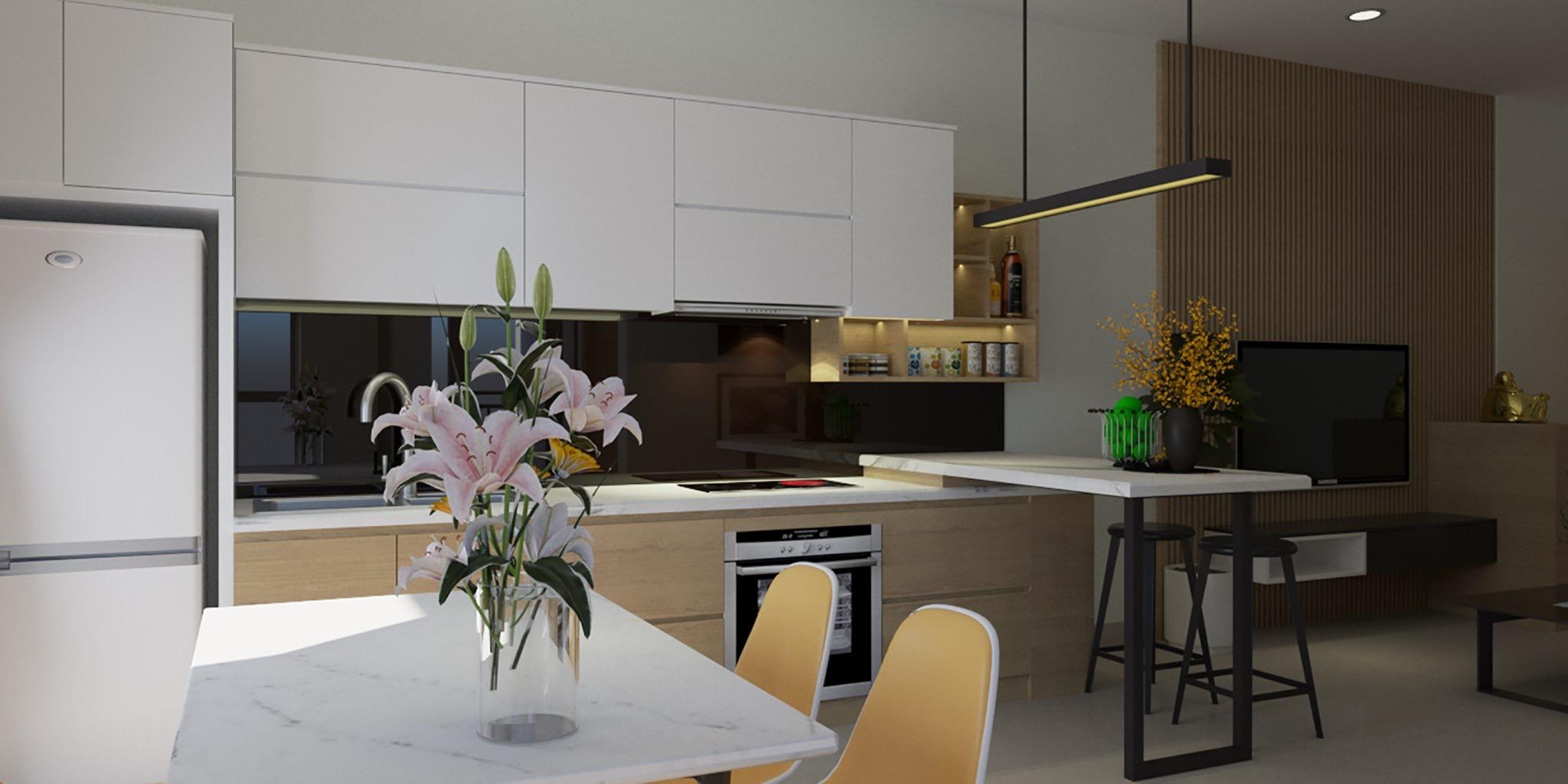 thiết kế nội thất chung cư tại Hồ Chí Minh Căn hộ anh Sáng 1 1562434320