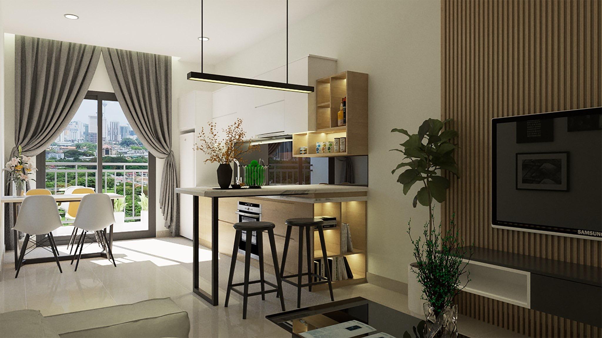 thiết kế nội thất chung cư tại Hồ Chí Minh Căn hộ anh Sáng 2 1562434320