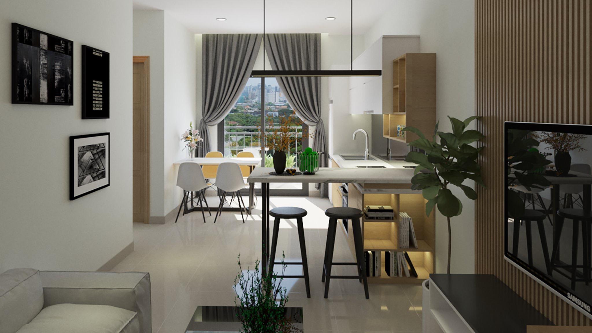 thiết kế nội thất chung cư tại Hồ Chí Minh Căn hộ anh Sáng 3 1562434320