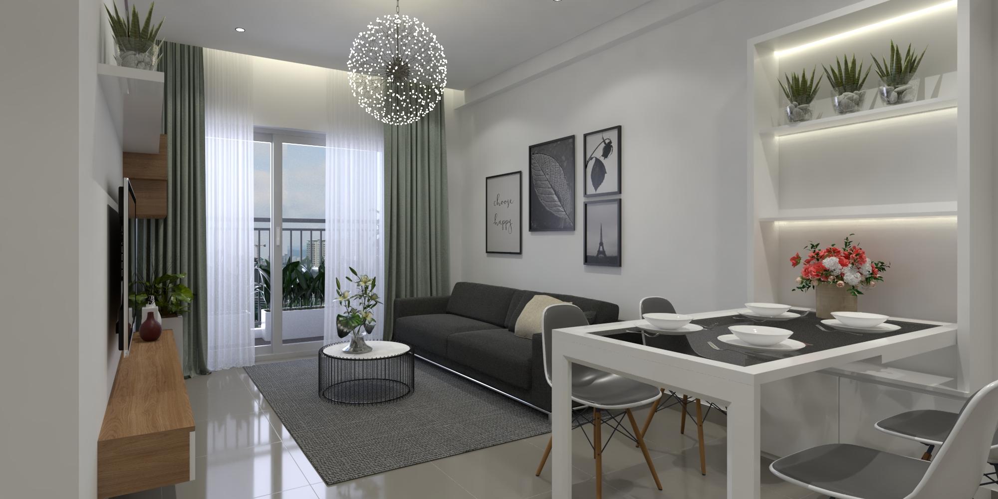 Thiết kế nội thất Chung Cư tại Hồ Chí Minh Căn hộ Sunrisse 1576570107 1