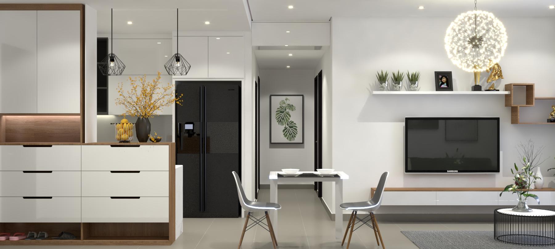 Thiết kế nội thất Chung Cư tại Hồ Chí Minh Căn hộ Sunrisse 1576570107 2