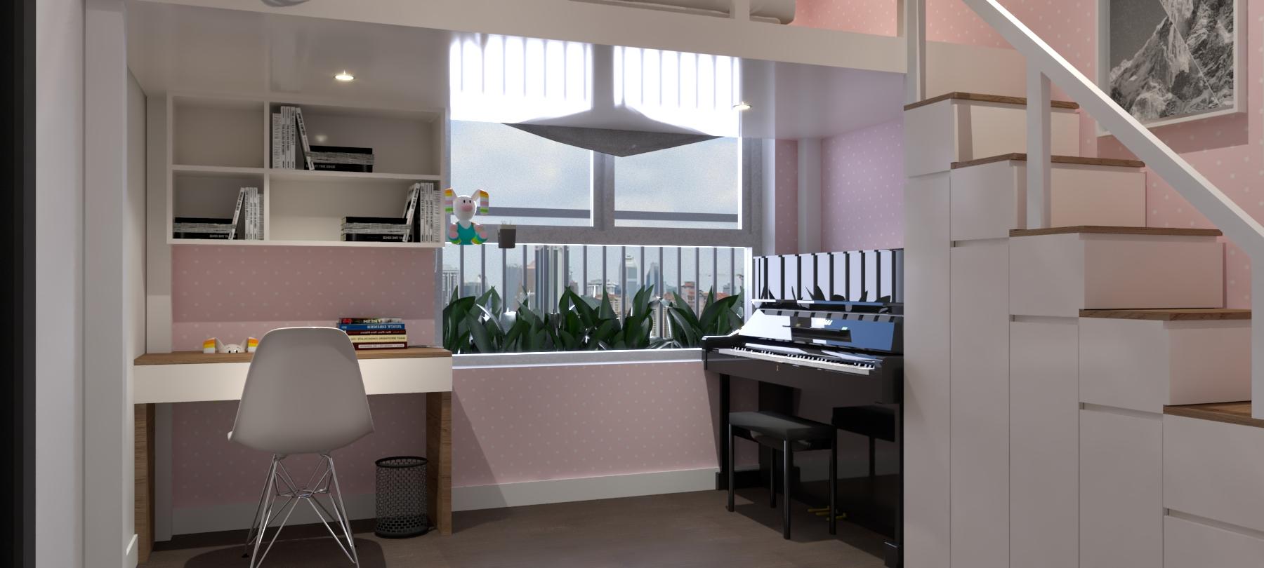 Thiết kế nội thất Chung Cư tại Hồ Chí Minh Căn hộ Sunrisse 1576570107 5
