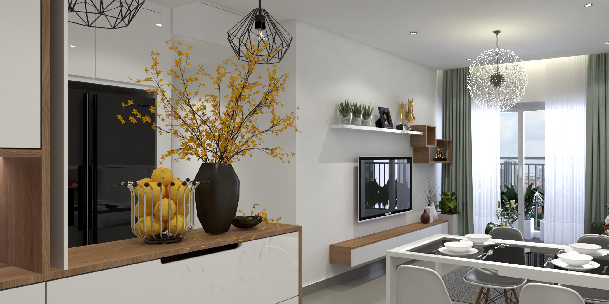 Thiết kế nội thất Chung Cư tại Hồ Chí Minh Căn hộ Sunrisse 1576570108 0
