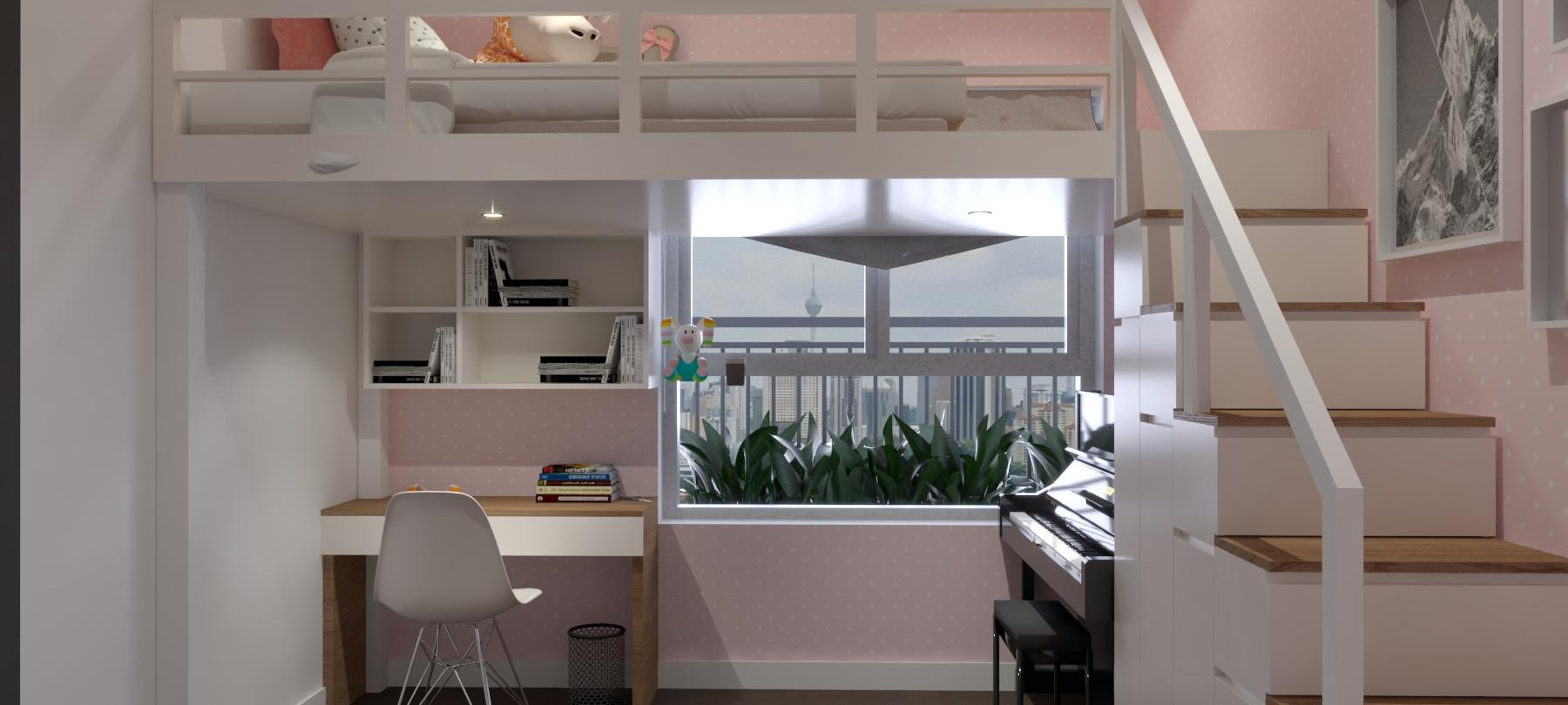 Thiết kế nội thất Chung Cư tại Hồ Chí Minh Căn hộ Sunrisse 1576570108 6