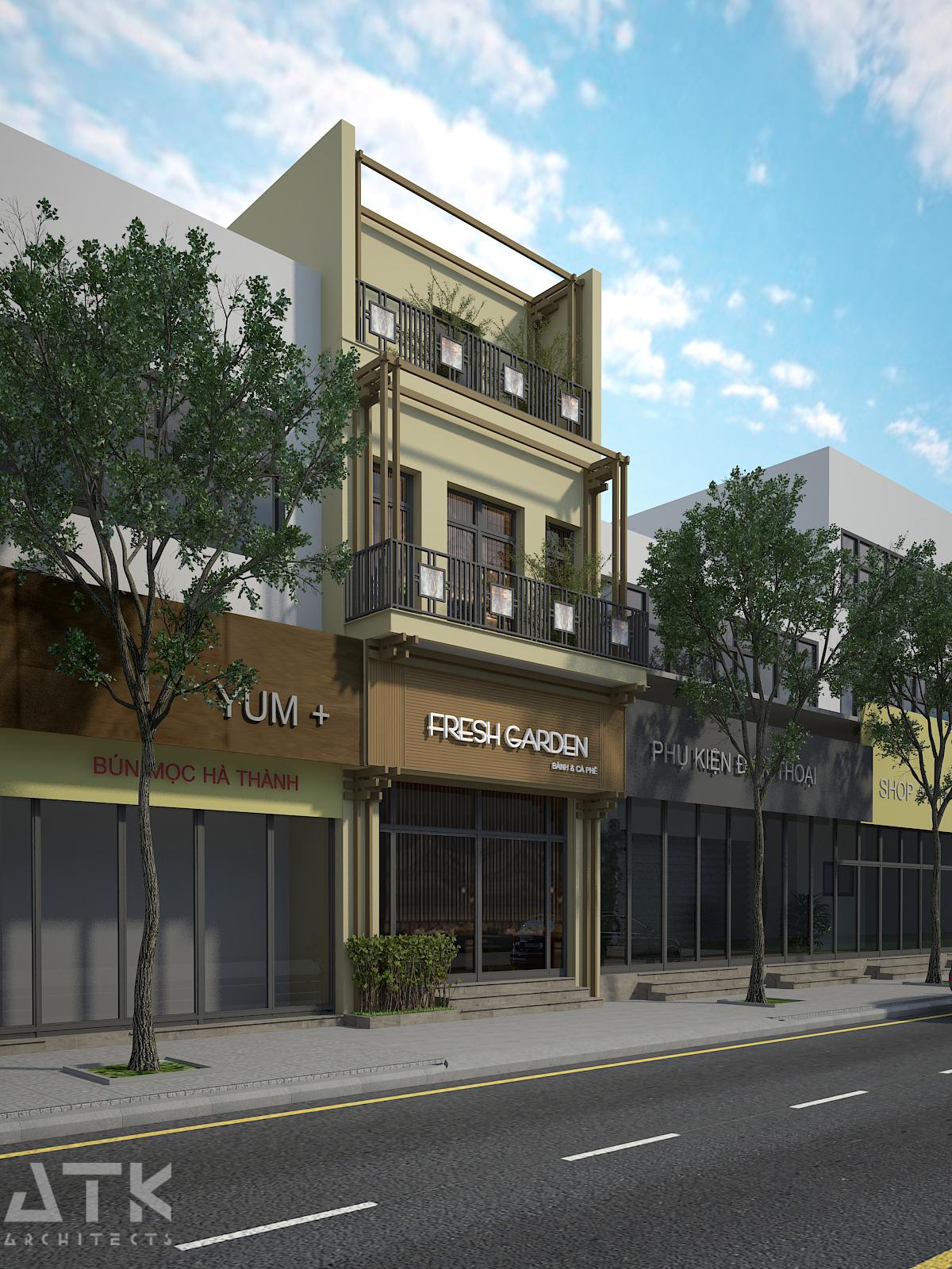 thiết kế nội thất Cafe tại Hà Nội Tiệm bánh & cà phê Fresh Garden 10 1549904425