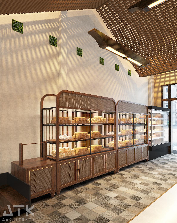 thiết kế nội thất Cafe tại Hà Nội Tiệm bánh & cà phê Fresh Garden 2 1549904422
