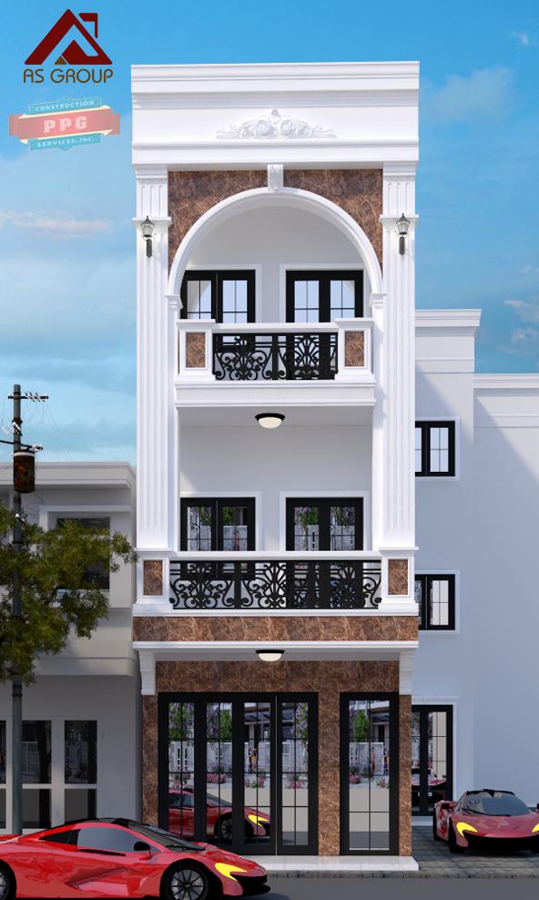 thiết kế Nhà 2 tầng tại Hồ Chí Minh NHÀ PHỐ KẾT HỢP  1 1563597718