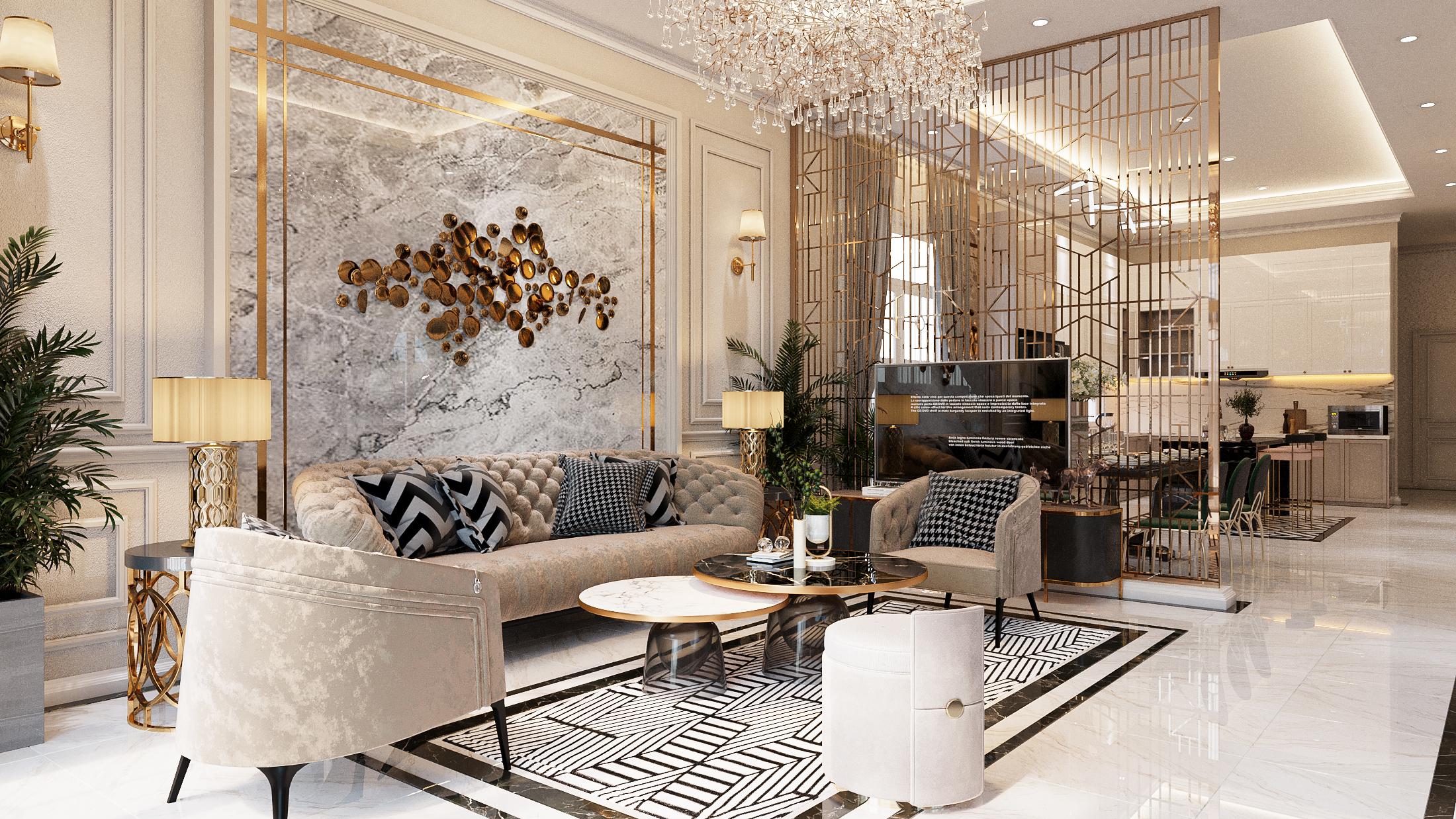 Thiết kế nội thất Biệt Thự tại Hồ Chí Minh NEO- CLASSICAL 1620877406 1