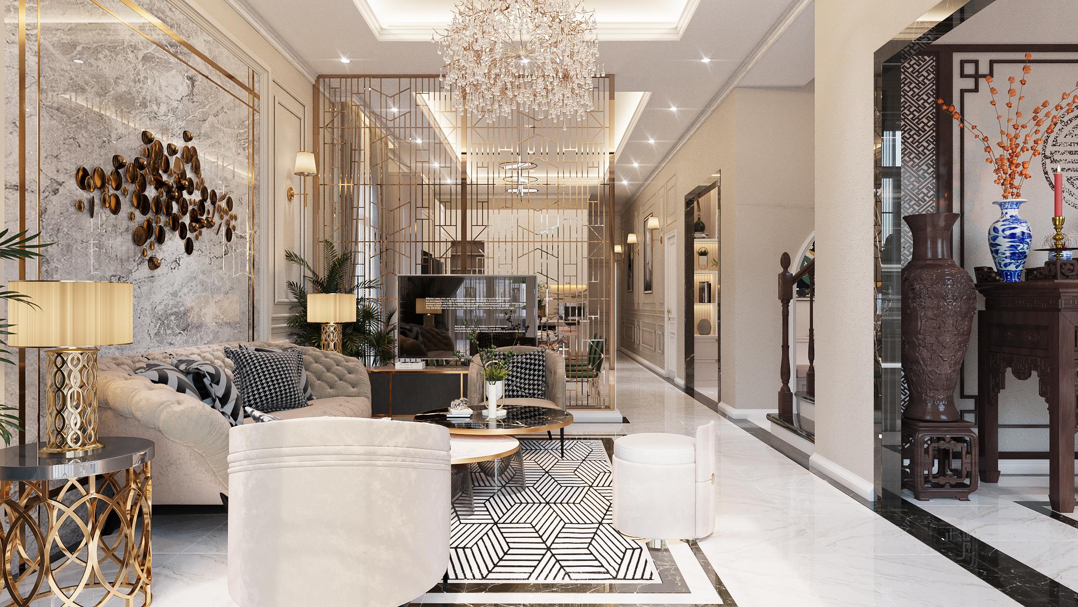 Thiết kế nội thất Biệt Thự tại Hồ Chí Minh NEO- CLASSICAL 1620877406 2