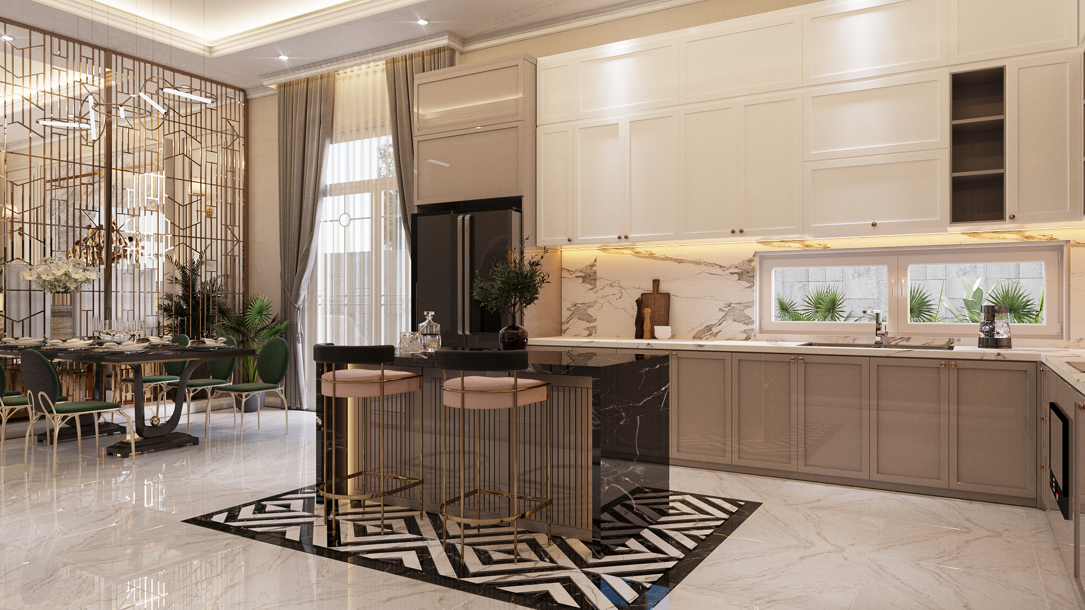 Thiết kế nội thất Biệt Thự tại Hồ Chí Minh NEO- CLASSICAL 1620877407 4