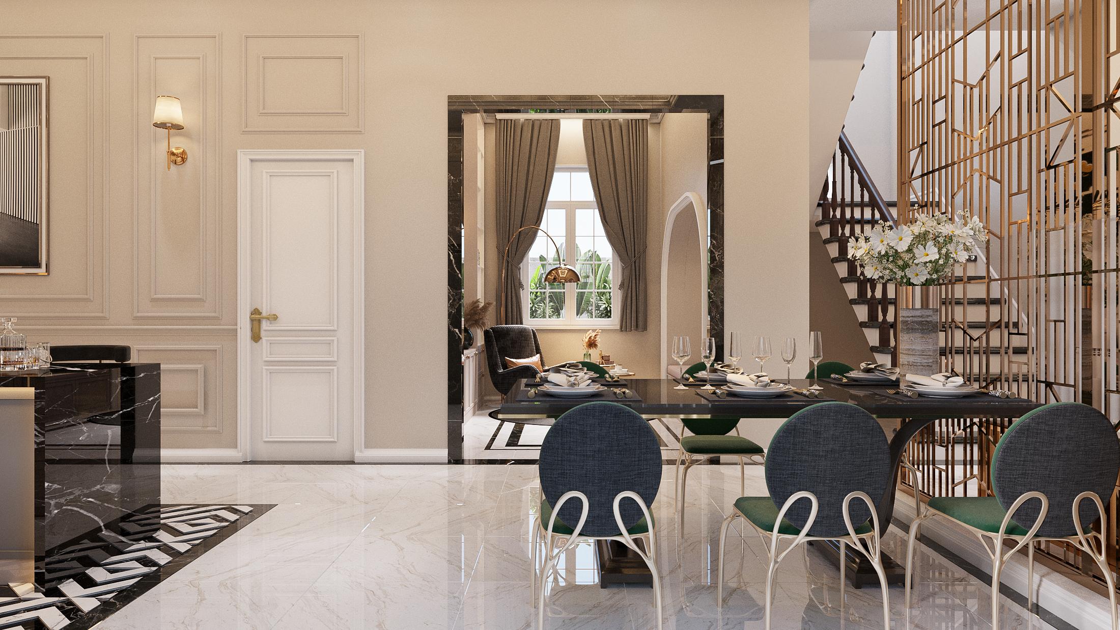 Thiết kế nội thất Biệt Thự tại Hồ Chí Minh NEO- CLASSICAL 1620877407 5