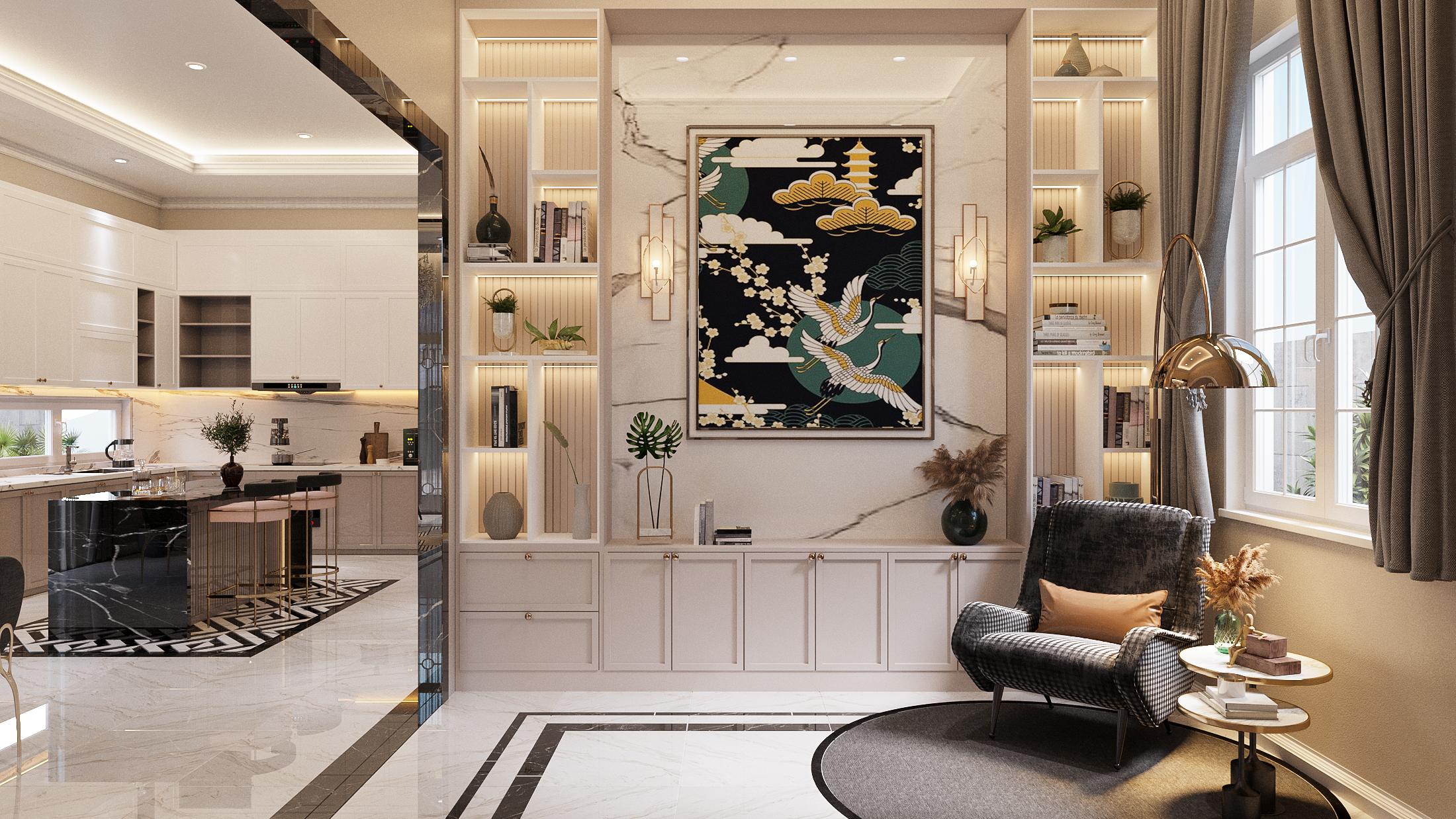 Thiết kế nội thất Biệt Thự tại Hồ Chí Minh NEO- CLASSICAL 1620877407 6