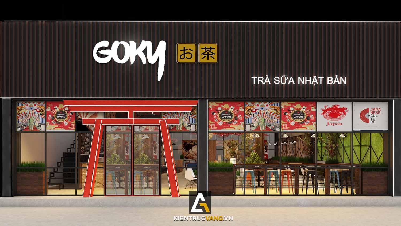 Thiết kế nội thất Cafe tại Đồng Nai Thiết kế quán trà sữa Goky, chi nhánh Đồng Nai 1617092458 0