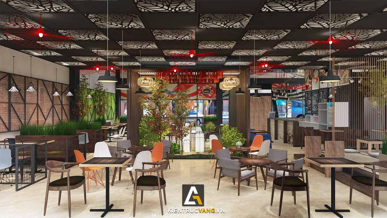 Thiết kế nội thất Cafe tại Đồng Nai Thiết kế quán trà sữa Goky, chi nhánh Đồng Nai 1617092458 3