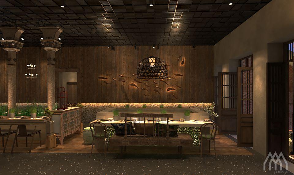 thiết kế Nhà Hàng Dong Phu 1932- Vietnam Cuisine Restaurant610