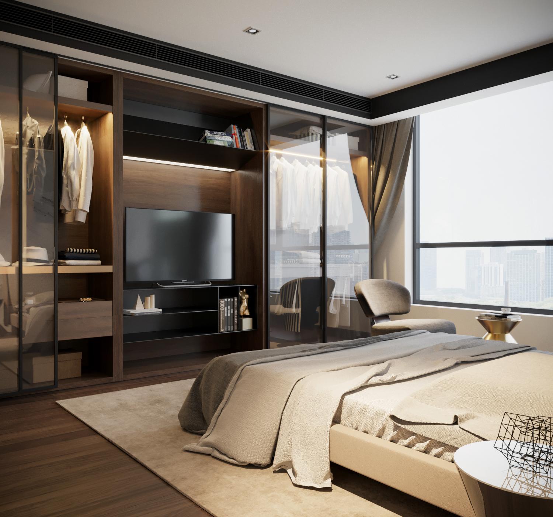 thiết kế nội thất chung cư tại Hà Nội VINCOM NGUYEN CHI THANH - APARTMENT 13 1533622272