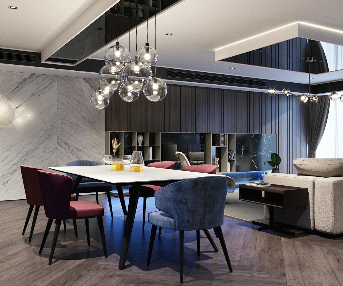 thiết kế nội thất chung cư tại Hà Nội VINCOM NGUYEN CHI THANH - APARTMENT 4 1533622267