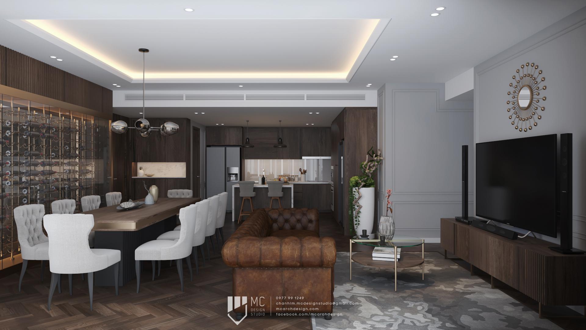 Thiết kế nội thất Chung Cư tại Hồ Chí Minh RIVIERA POINT - 3BS2 1588587963 1