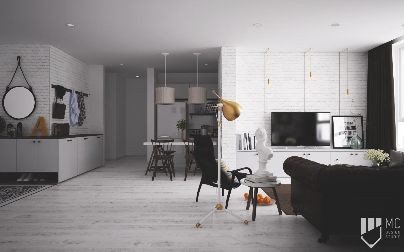 Thiết kế nội thất Chung Cư tại Hồ Chí Minh Sunrise City Apartment 1588400532 4