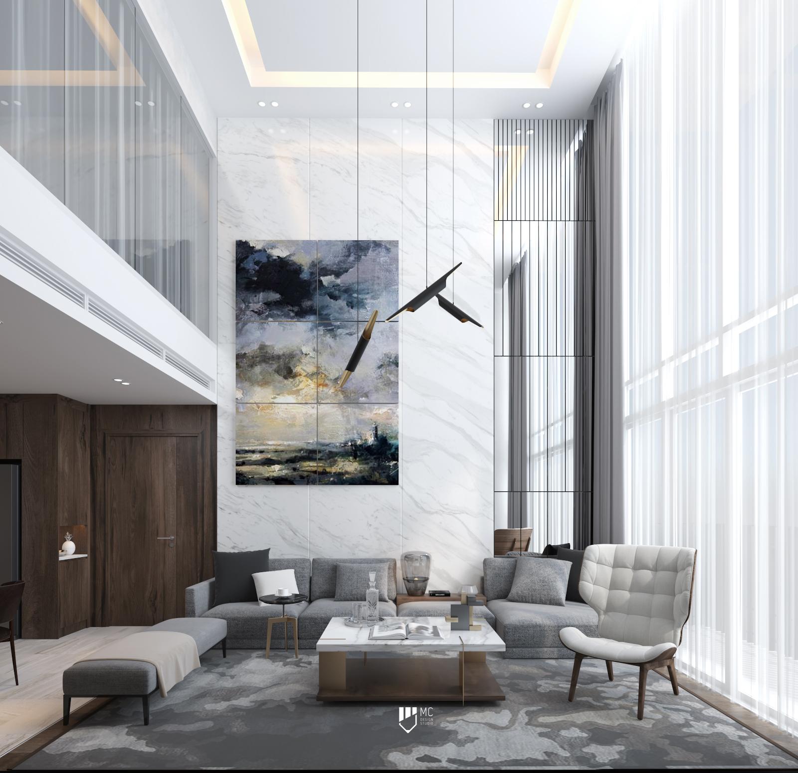 Thiết kế nội thất Chung Cư tại Hồ Chí Minh THE VIEW - DUPLEX 1588586561 4