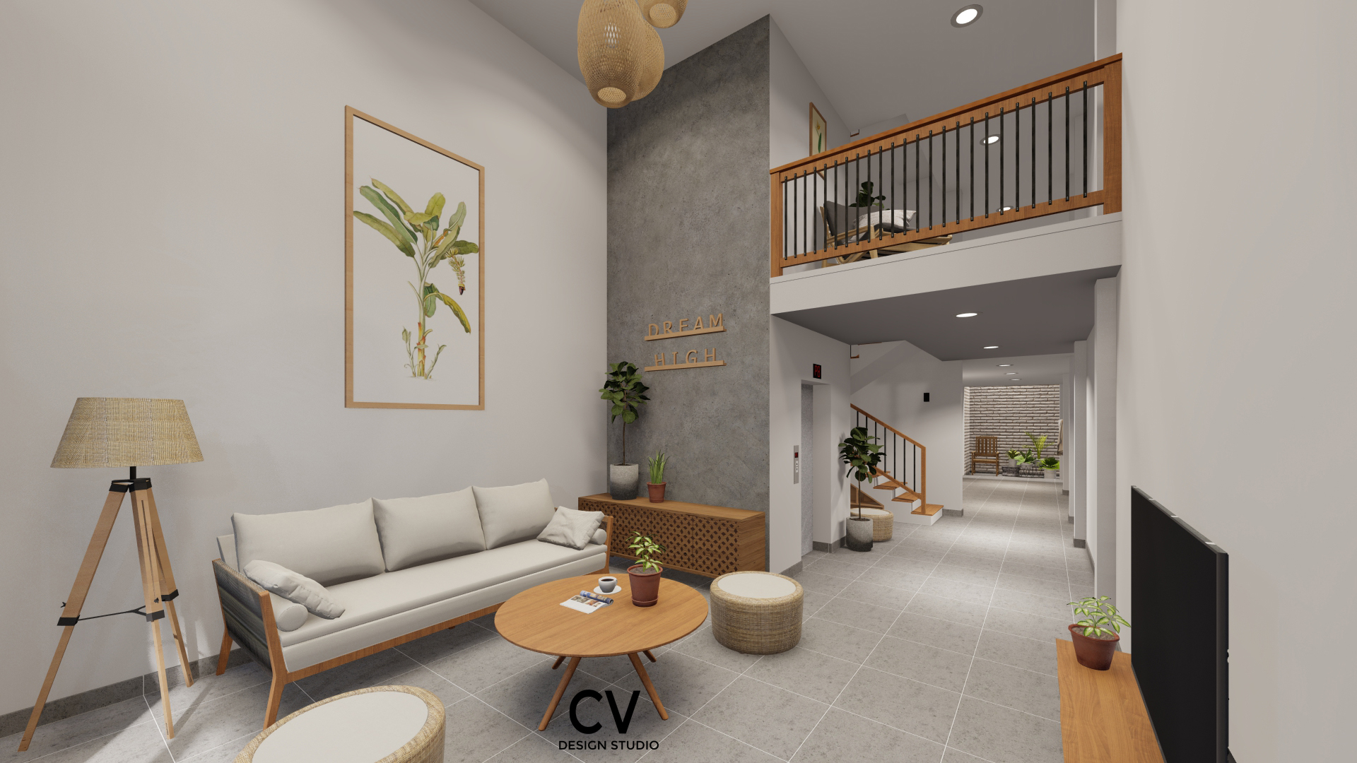 Thiết kế nội thất Nhà Mặt Phố tại An Giang H+ House 1600088020 1