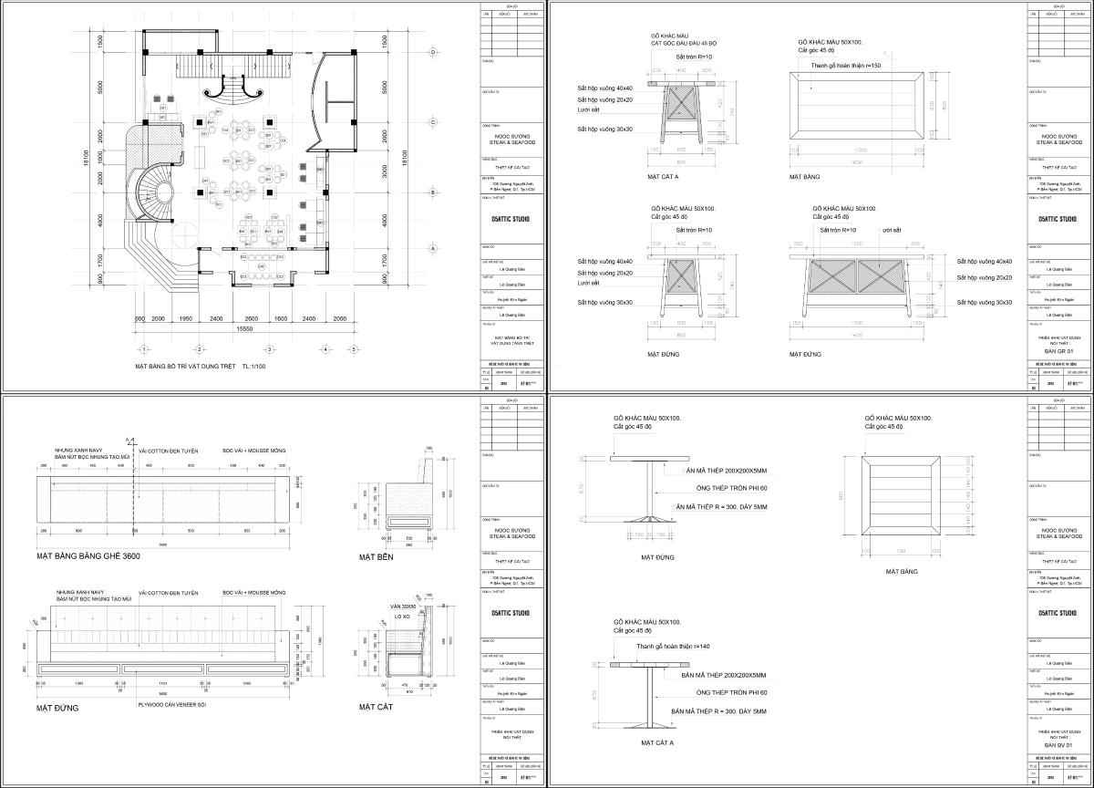 thiết kế nội thất Nhà Hàng tại Hồ Chí Minh Nội Thất Nhà Hàng Ngọc Sương Steak&Seafood - Q1 3 1534747103