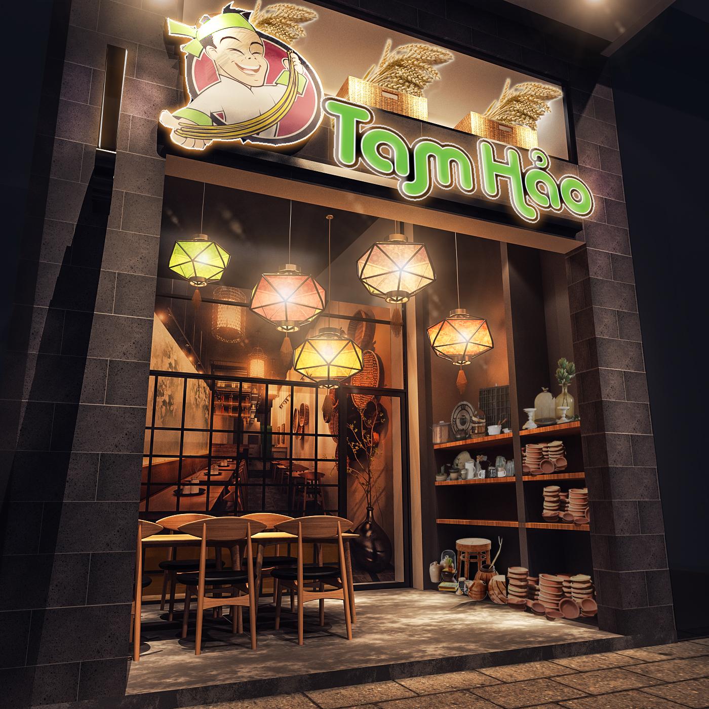 thiết kế nội thất Nhà Hàng tại Hồ Chí Minh TAM HẢO Fresh Noodle - Hồ Tùng Mậu 6 1534750384