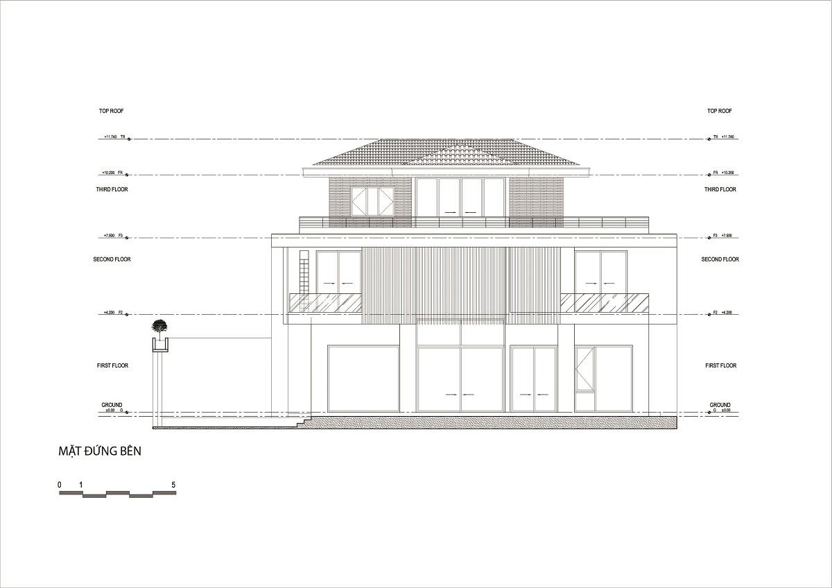Thiết kế Biệt Thự tại Thanh Hóa Nhà Hàm Rồng - Tận hưởng thiên nhiên từ mọi không gian 1619424683 0