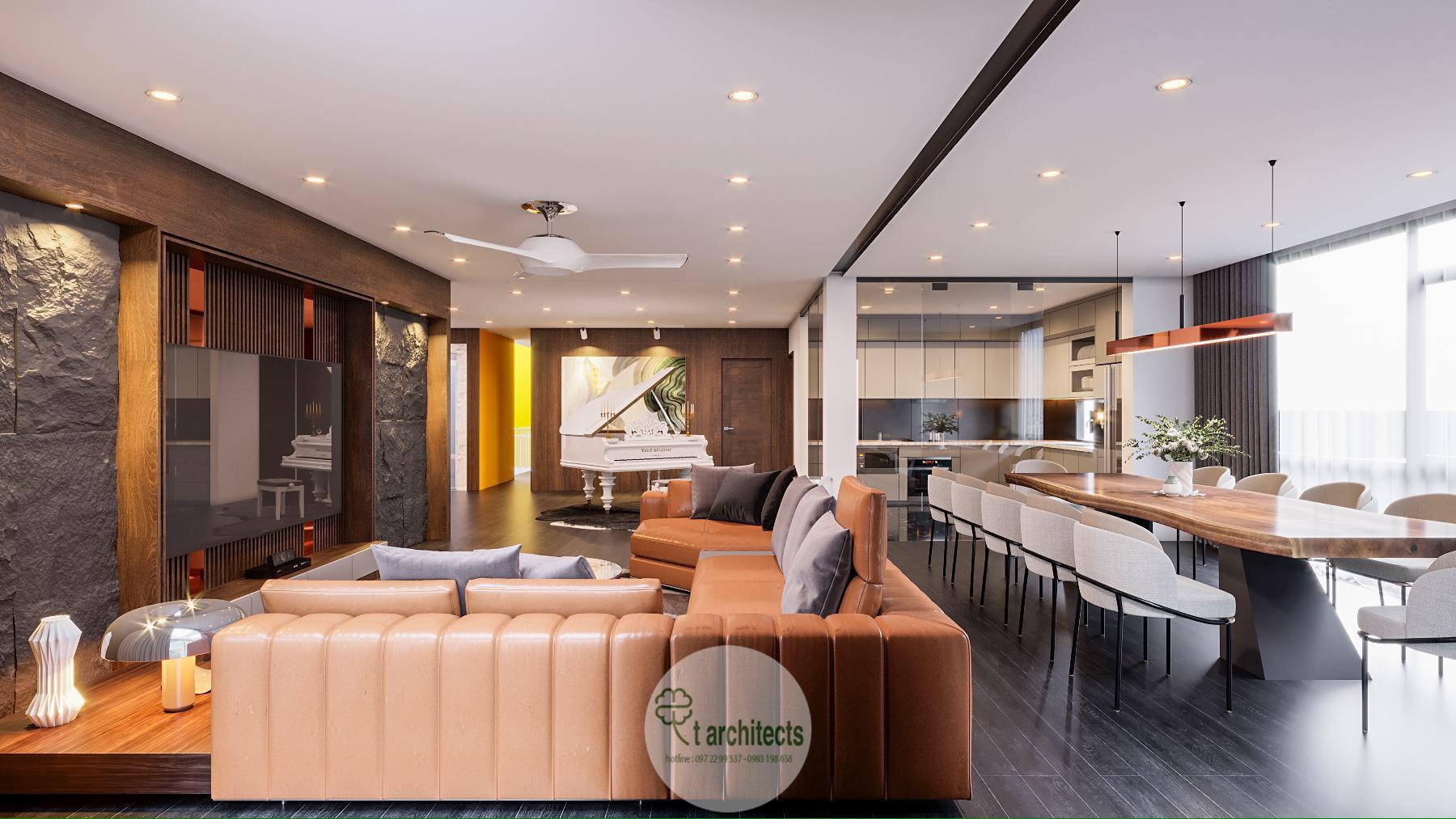 Thiết kế nội thất Chung Cư tại Thanh Hóa Nội thất tầng sinh hoạt của Học Viện Thẩm Mỹ Loan's Spa 1589764319 0