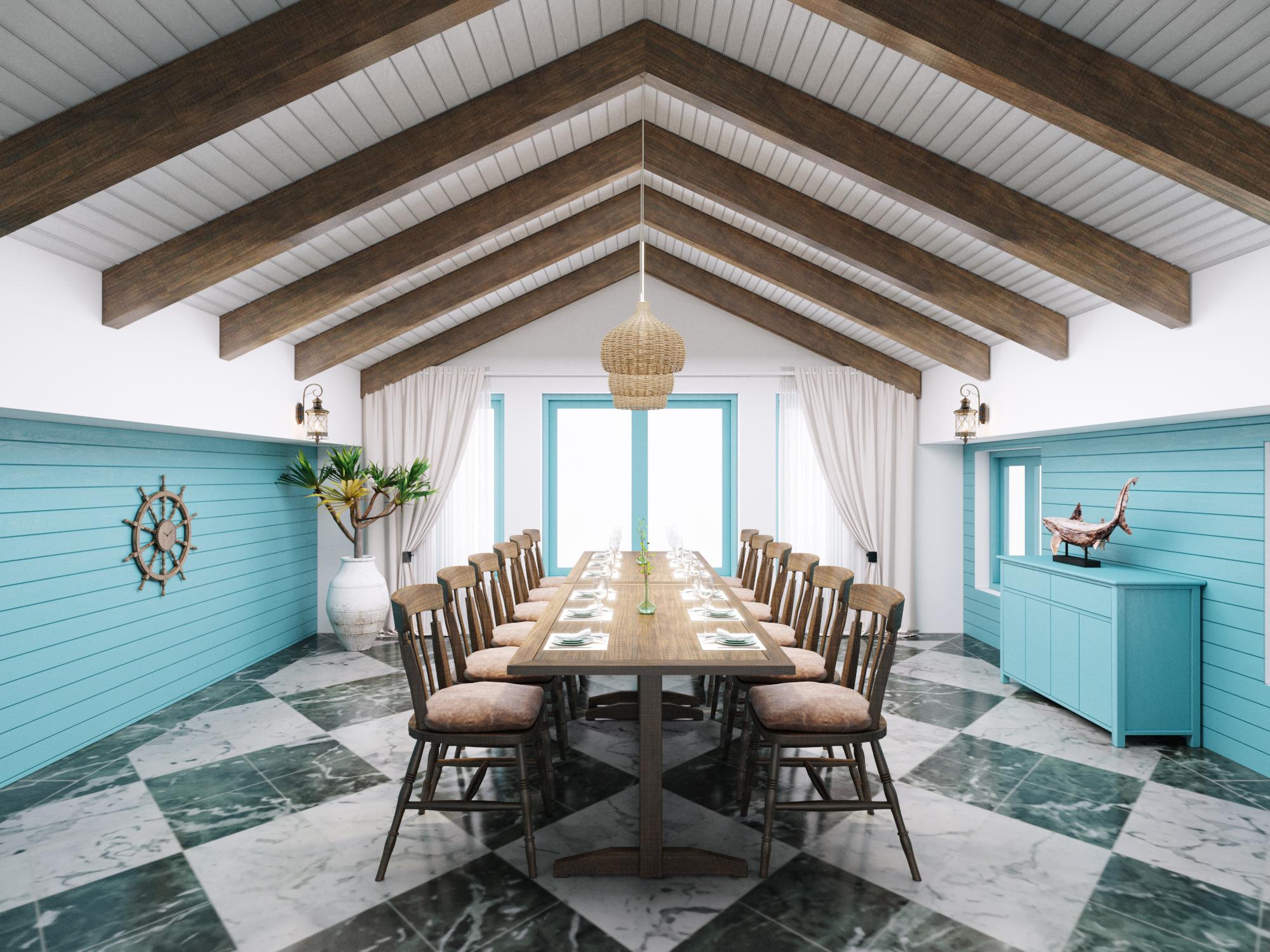 Thiết kế nội thất Nhà Hàng tại Hà Nội NHÀ HÀNG THẾ GIỚI HẢI SẢN 1590724250 0
