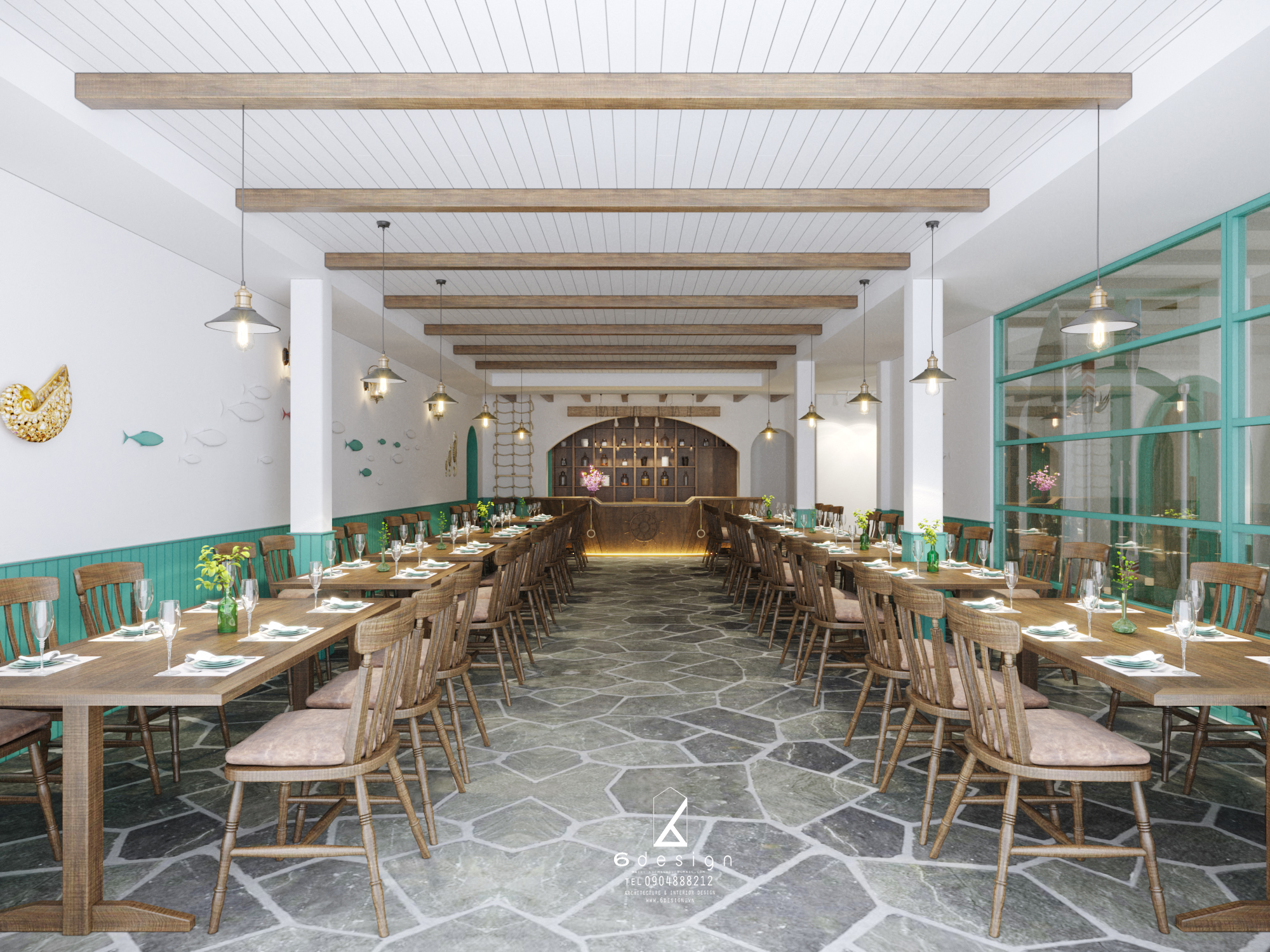 Thiết kế nội thất Nhà Hàng tại Hà Nội NHÀ HÀNG THẾ GIỚI HẢI SẢN 1590724251 4