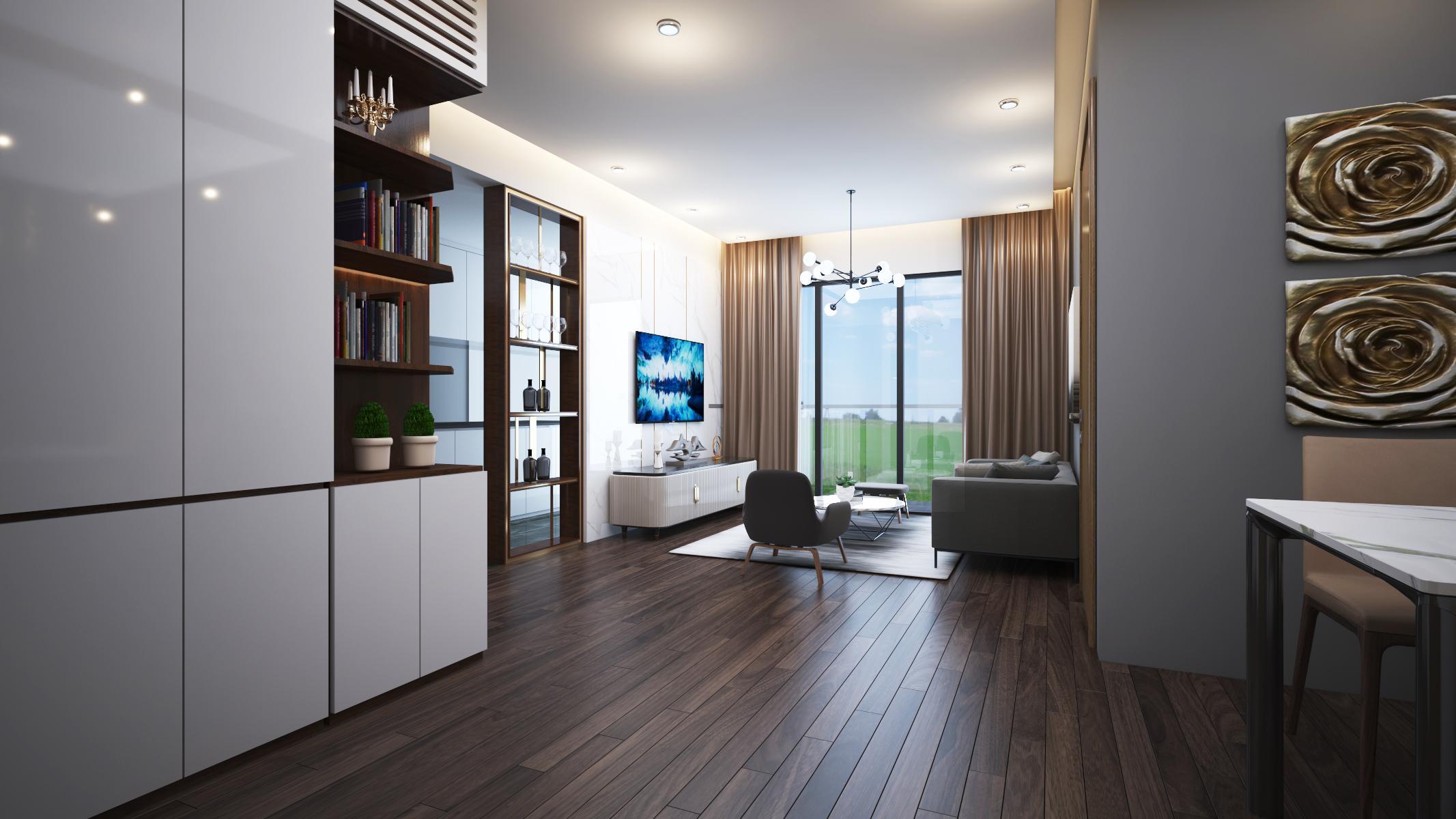 Thiết kế nội thất Chung Cư tại Hà Nội 6 Element Apartment 1584606766 0