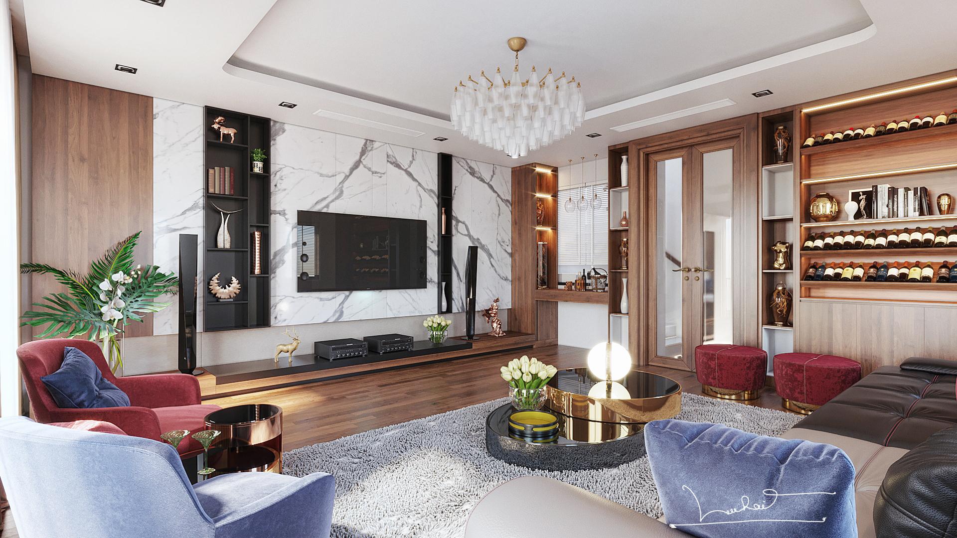 Thiết kế nội thất Biệt Thự tại Sơn La INTERIORO _02 1575334956 0