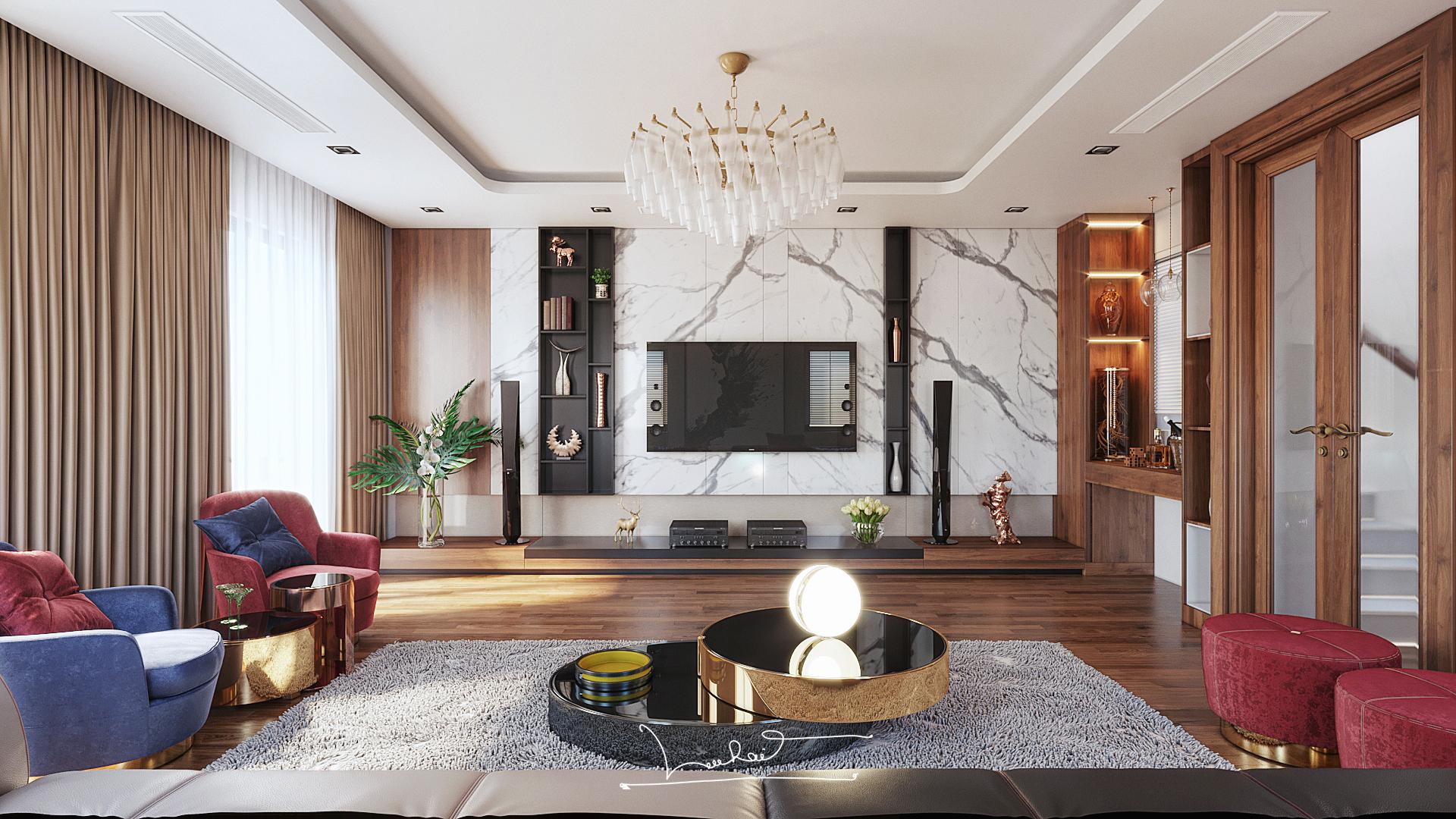 Thiết kế nội thất Biệt Thự tại Sơn La INTERIORO _02 1575334956 1