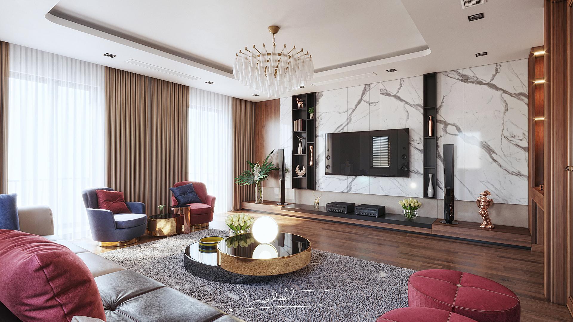 Thiết kế nội thất Biệt Thự tại Sơn La INTERIORO _02 1575334956 3