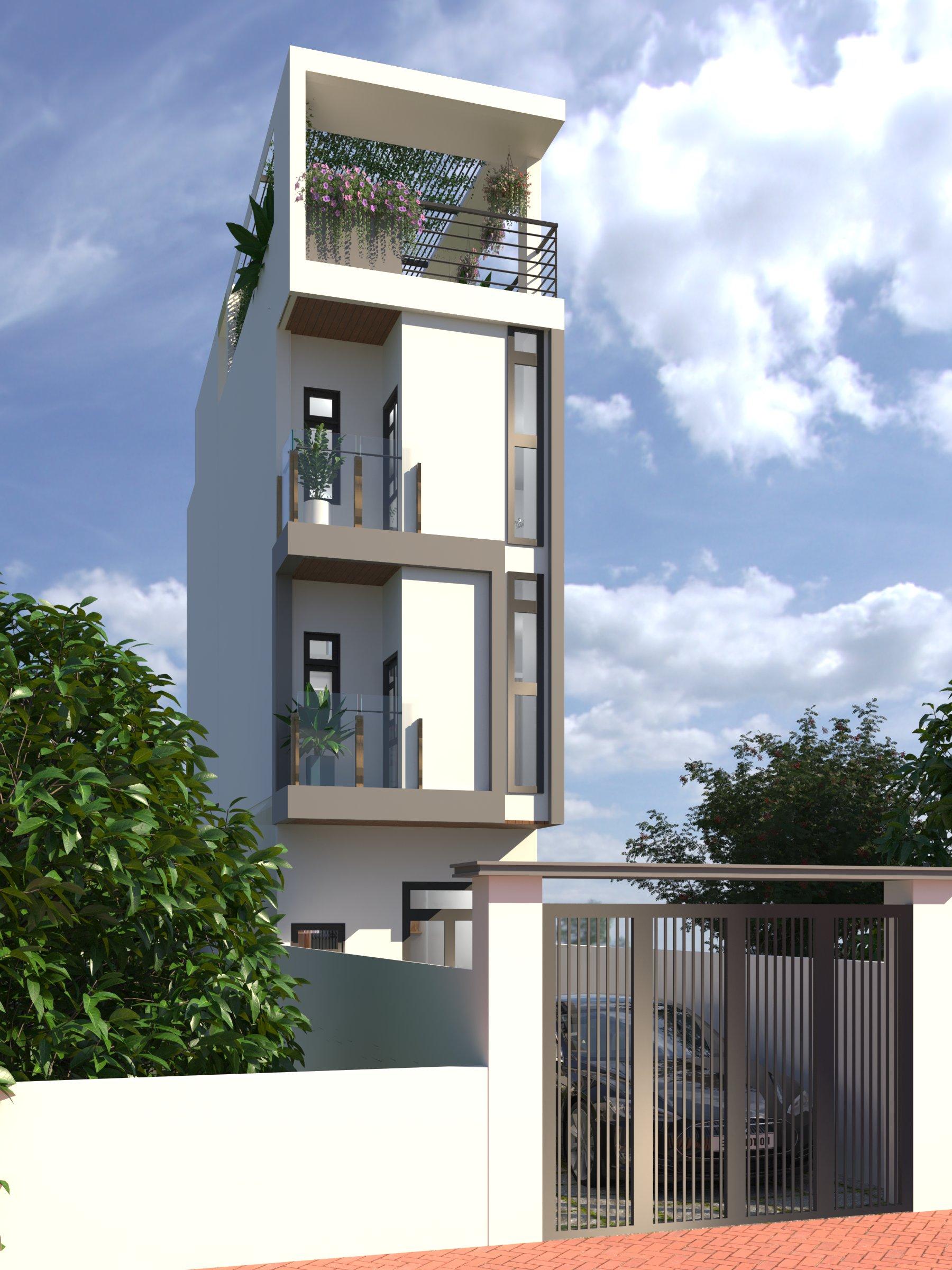 Thiết kế nội thất Nhà Mặt Phố tại Bình Dương Nhà ở riêng lẻ 1586098430 0