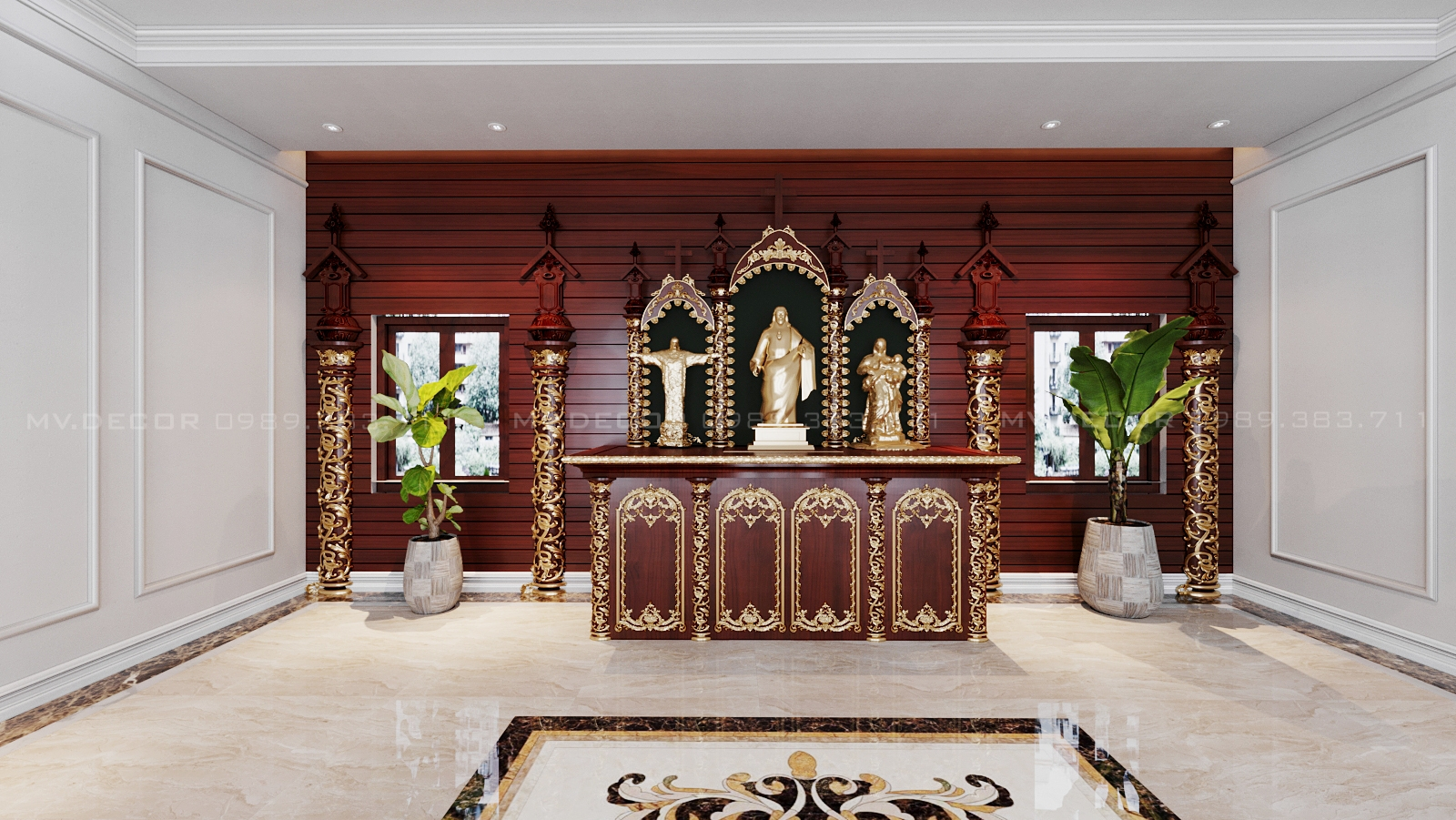 thiết kế Nhà tại Phú Thọ nhà thờ tại việt trì 7 1568276955