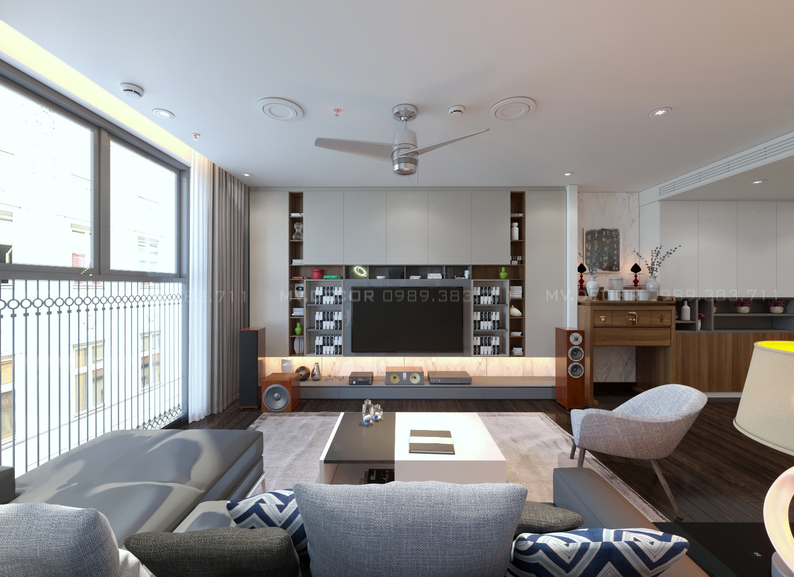 thiết kế nội thất chung cư tại Hà Nội duplex tân hoàng minh hoàng cầu 11 1550072052