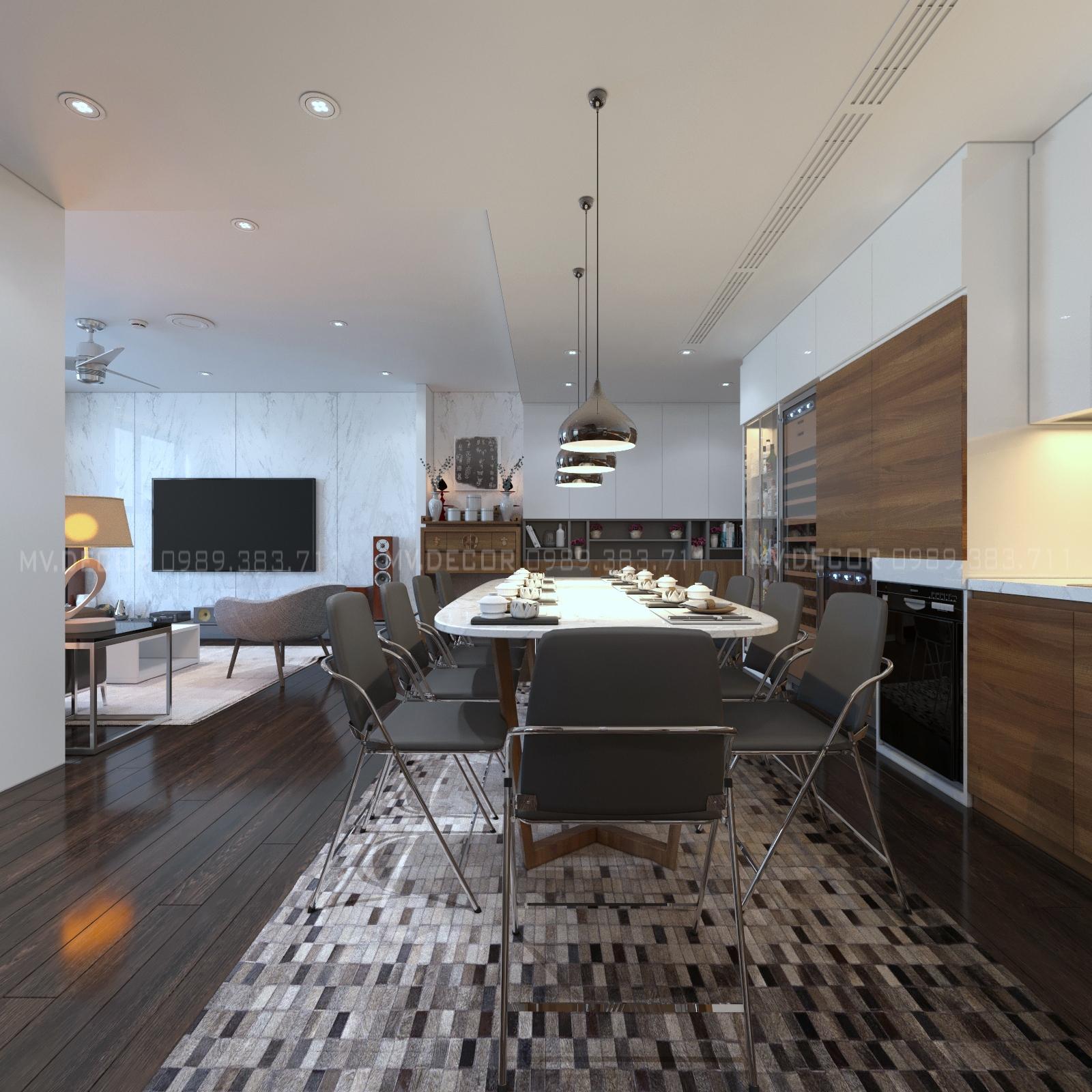 thiết kế nội thất chung cư tại Hà Nội duplex tân hoàng minh hoàng cầu 2 1550072049