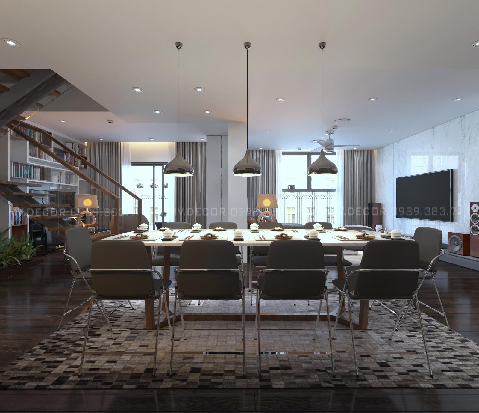 thiết kế nội thất chung cư tại Hà Nội duplex tân hoàng minh hoàng cầu 4 1550072049