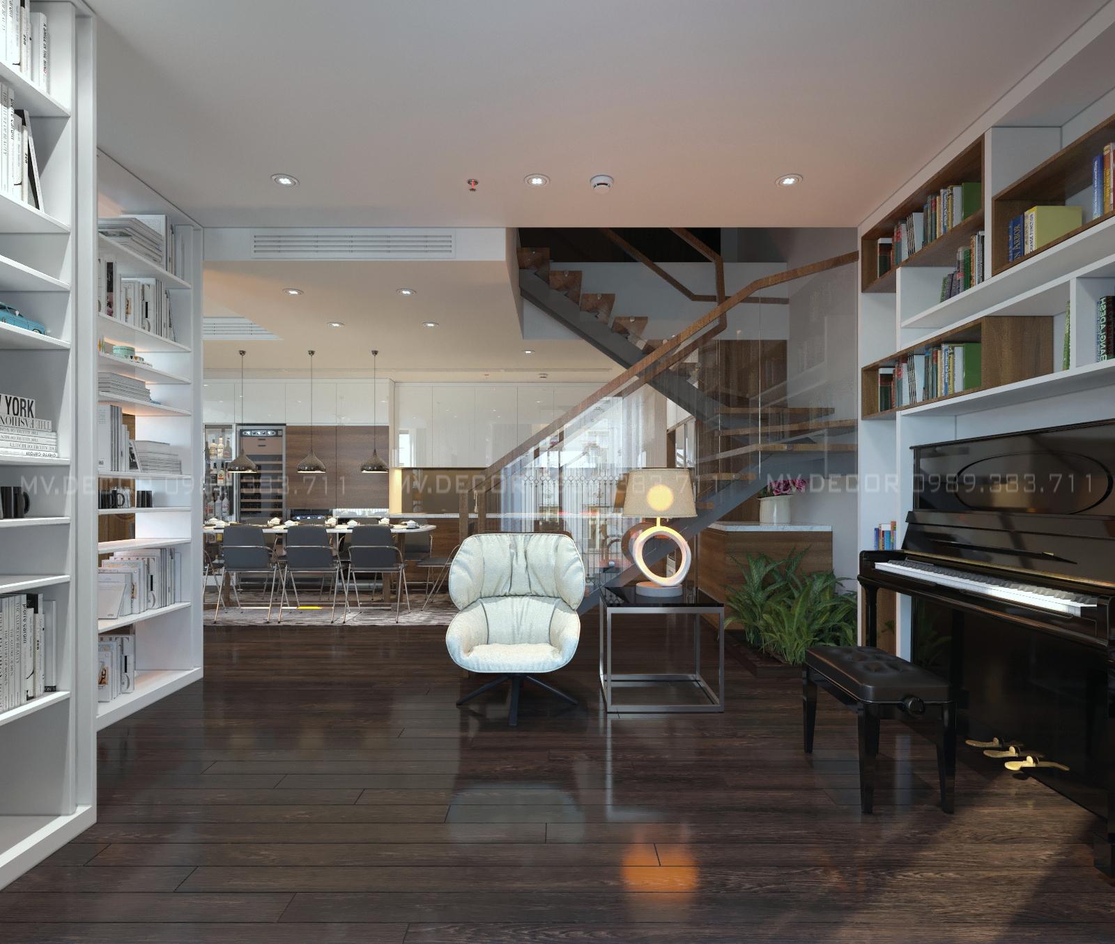 thiết kế nội thất chung cư tại Hà Nội duplex tân hoàng minh hoàng cầu 5 1550072049