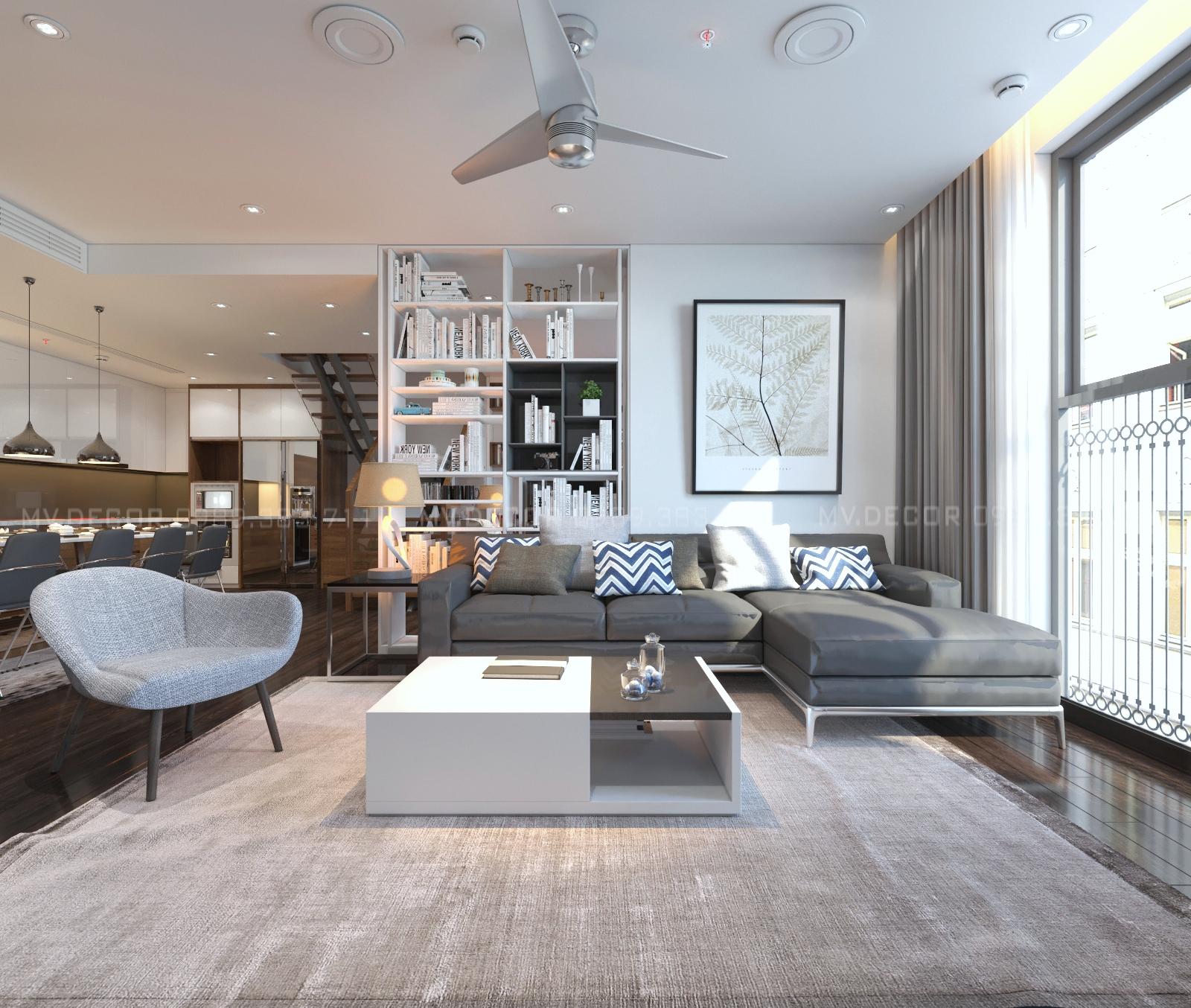 thiết kế nội thất chung cư tại Hà Nội duplex tân hoàng minh hoàng cầu 7 1550072050