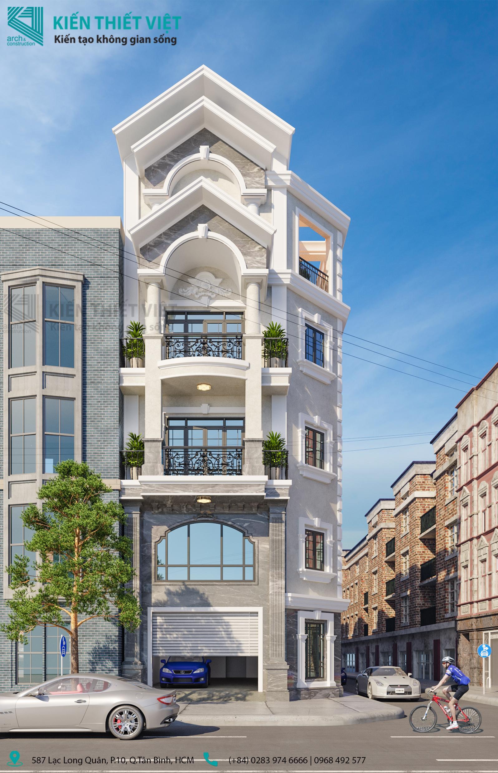 Thiết kế nội thất Nhà Mặt Phố tại Hồ Chí Minh Nhà phố Vườn Lài Tân Phú 1593399391 0