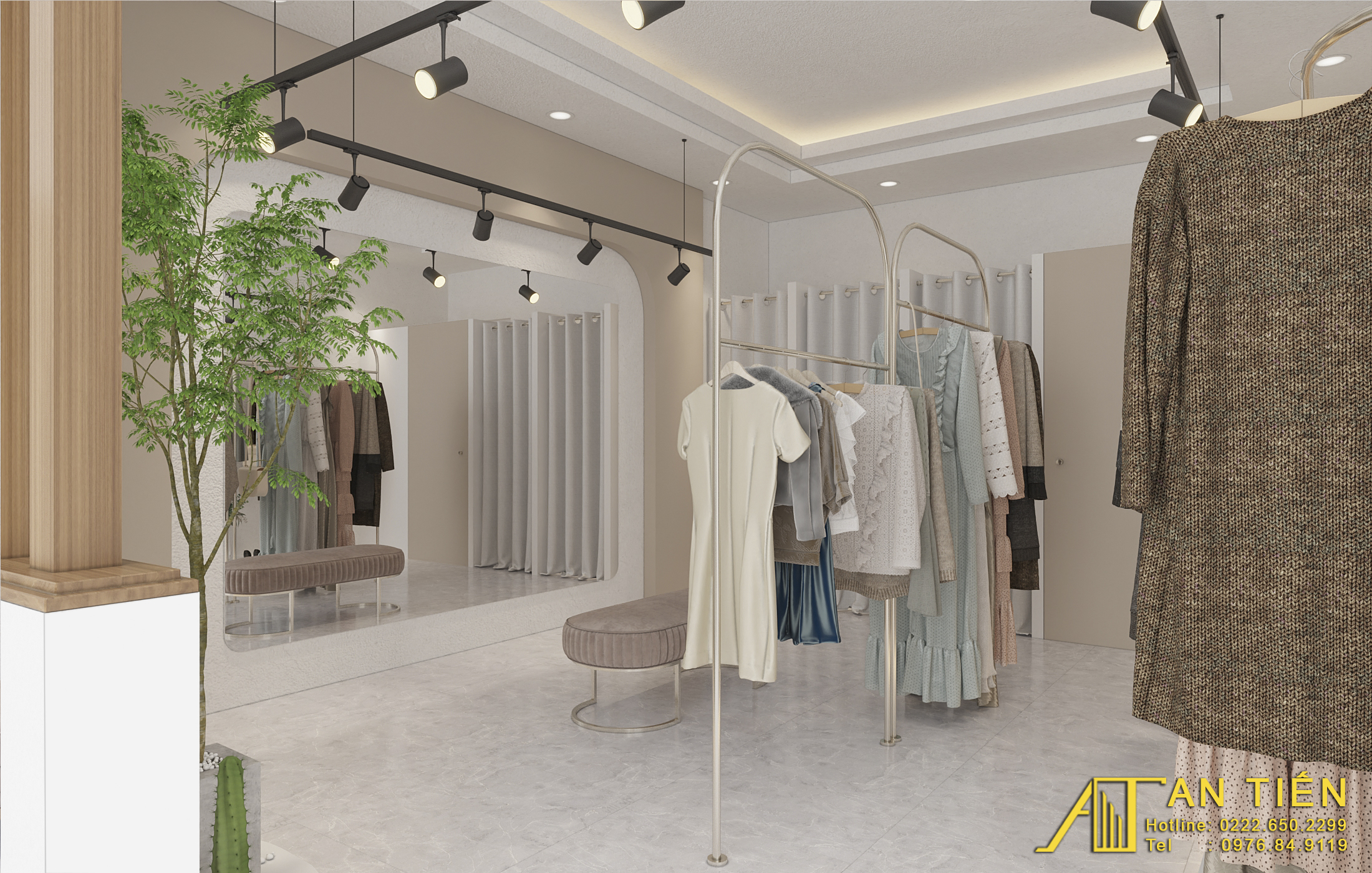 Thiết kế nội thất Shop tại Bắc Ninh Shop quần áo Bắc Ninh 1634097311 7