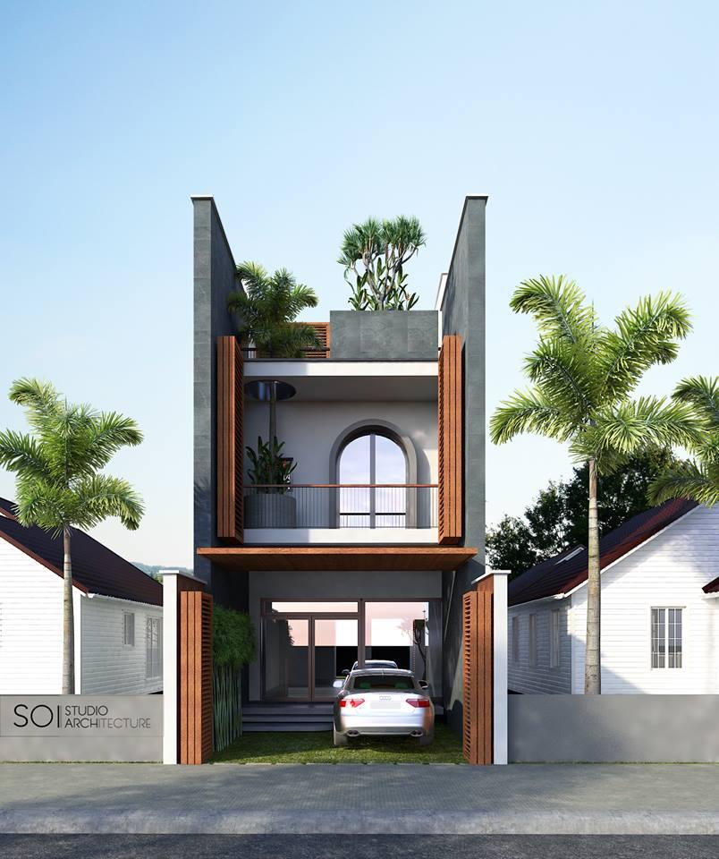 thiết kế Nhà 2 tầng tại Quảng Bình LaSach House 3 1536639930