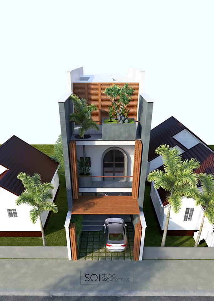 thiết kế Nhà 2 tầng tại Quảng Bình LaSach House 4 1536639929
