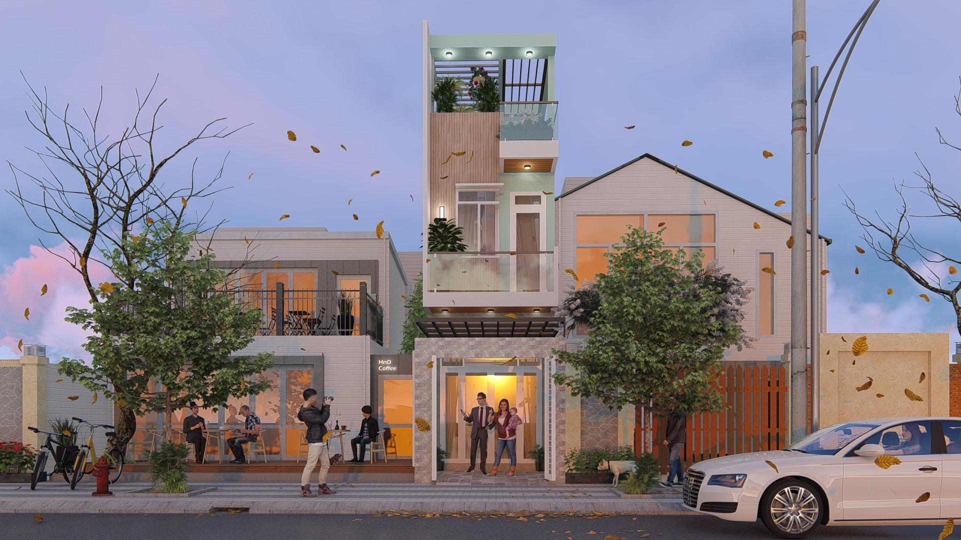 thiết kế Thiết Kế & Xây Dựng Nhà Mặt Phố 3 tầng Nhà Phố Anh Hùng00