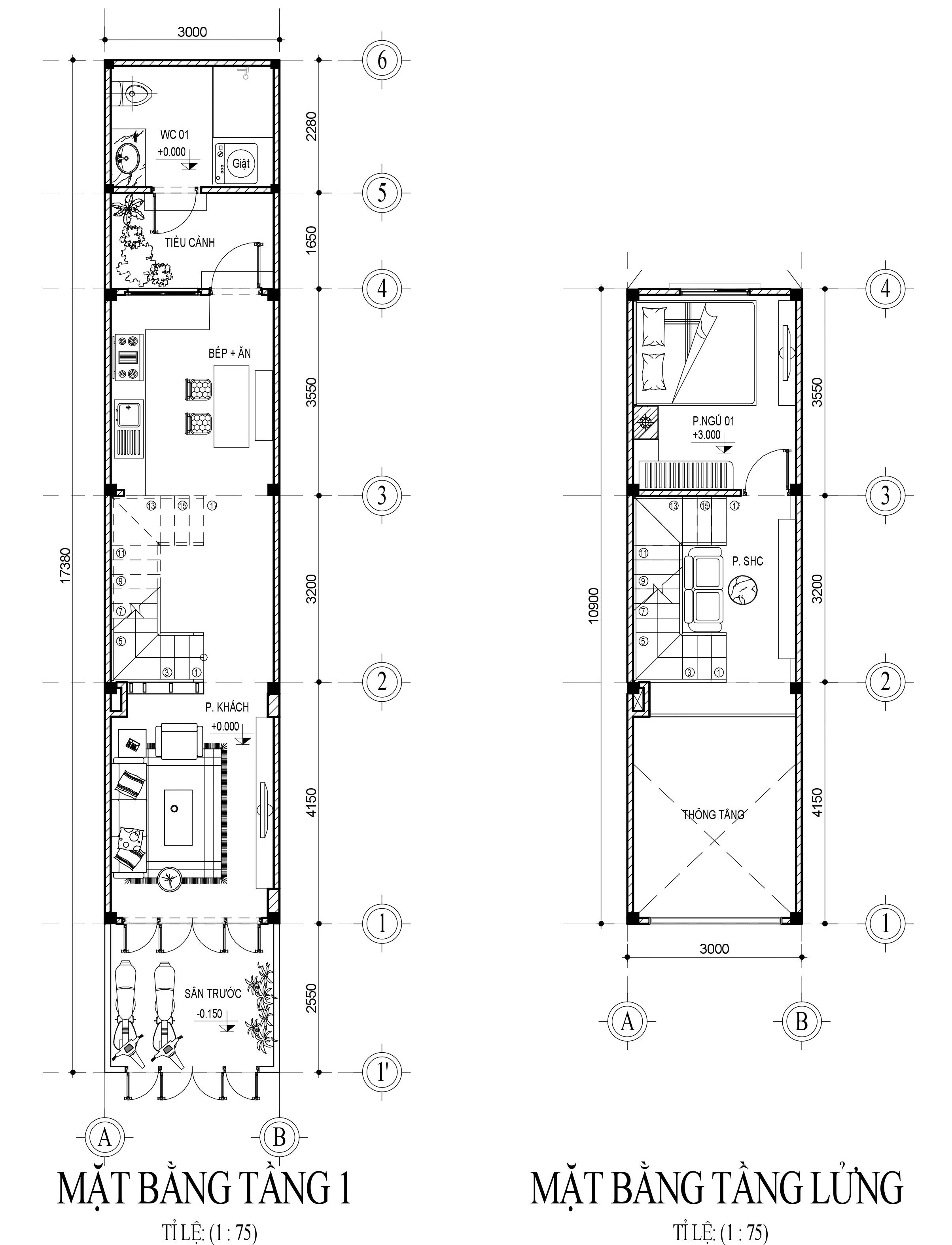 thiết kế Thiết Kế & Xây Dựng Nhà Mặt Phố 3 tầng Nhà Phố Anh Hùng43